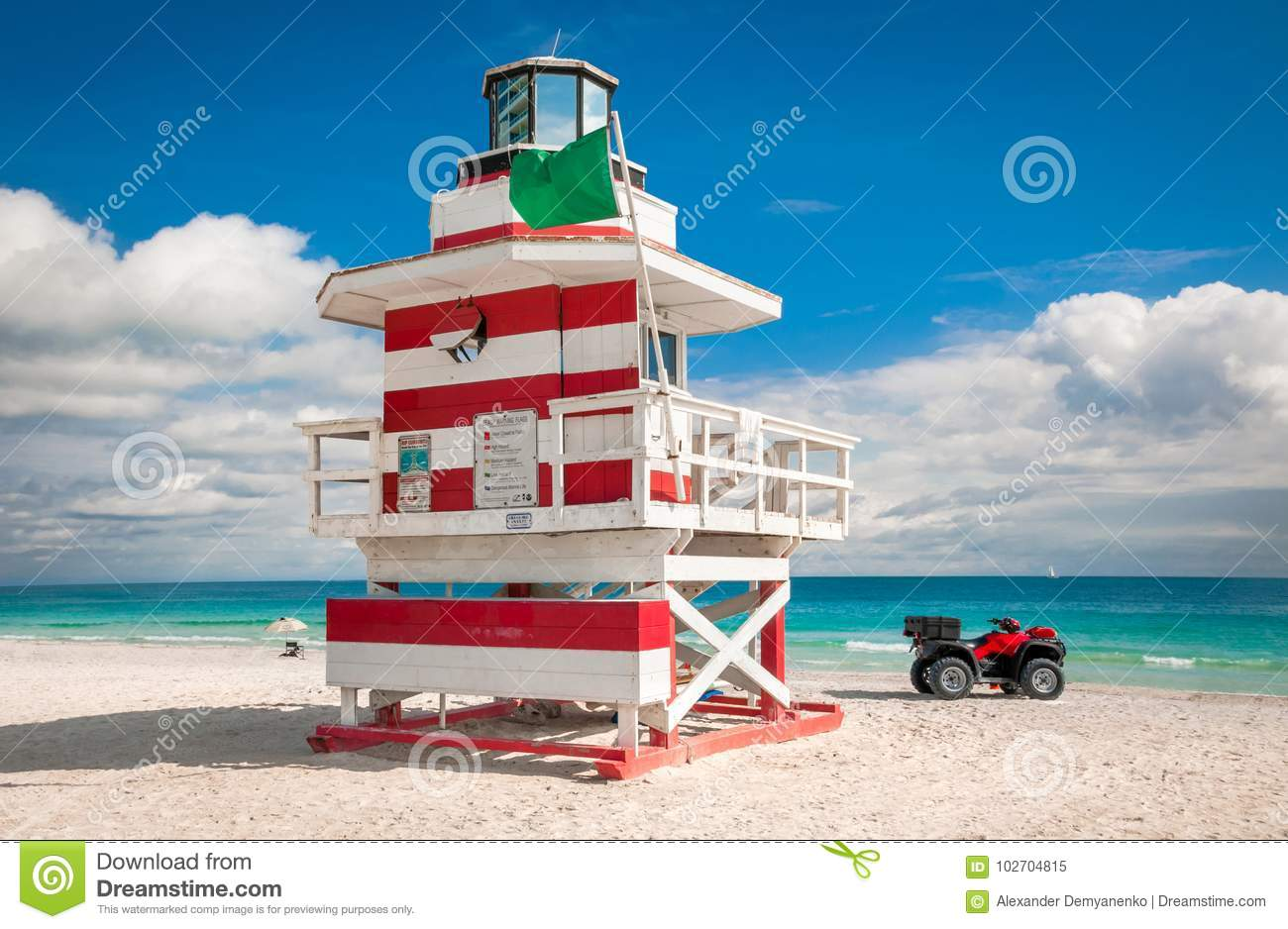 Bunter Leibwächter Tower im Südstrand, Miami Beach, Florida