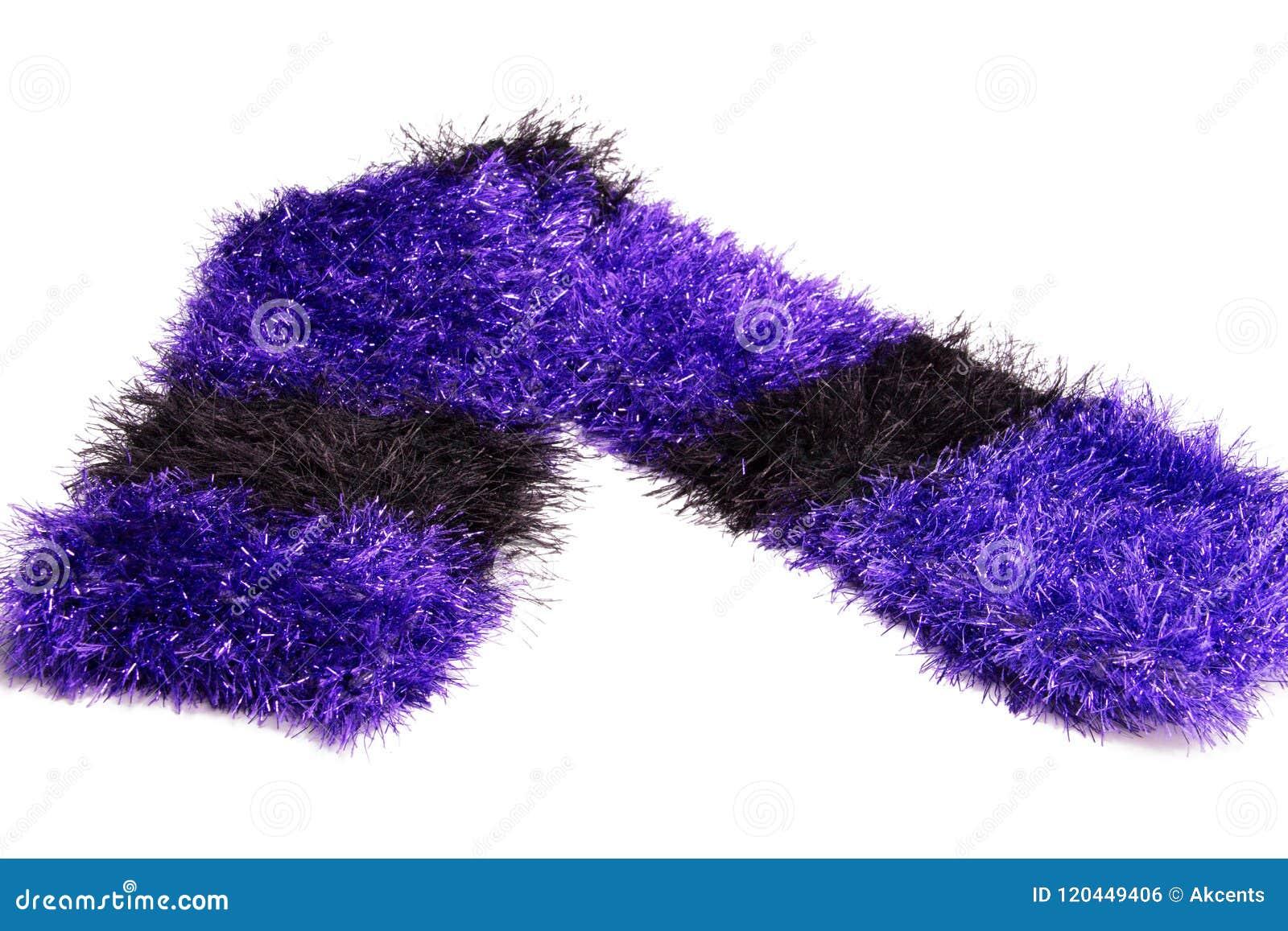 Bunter Luxuriöser Handgemachter Häkelarbeit Knit Streifte ...