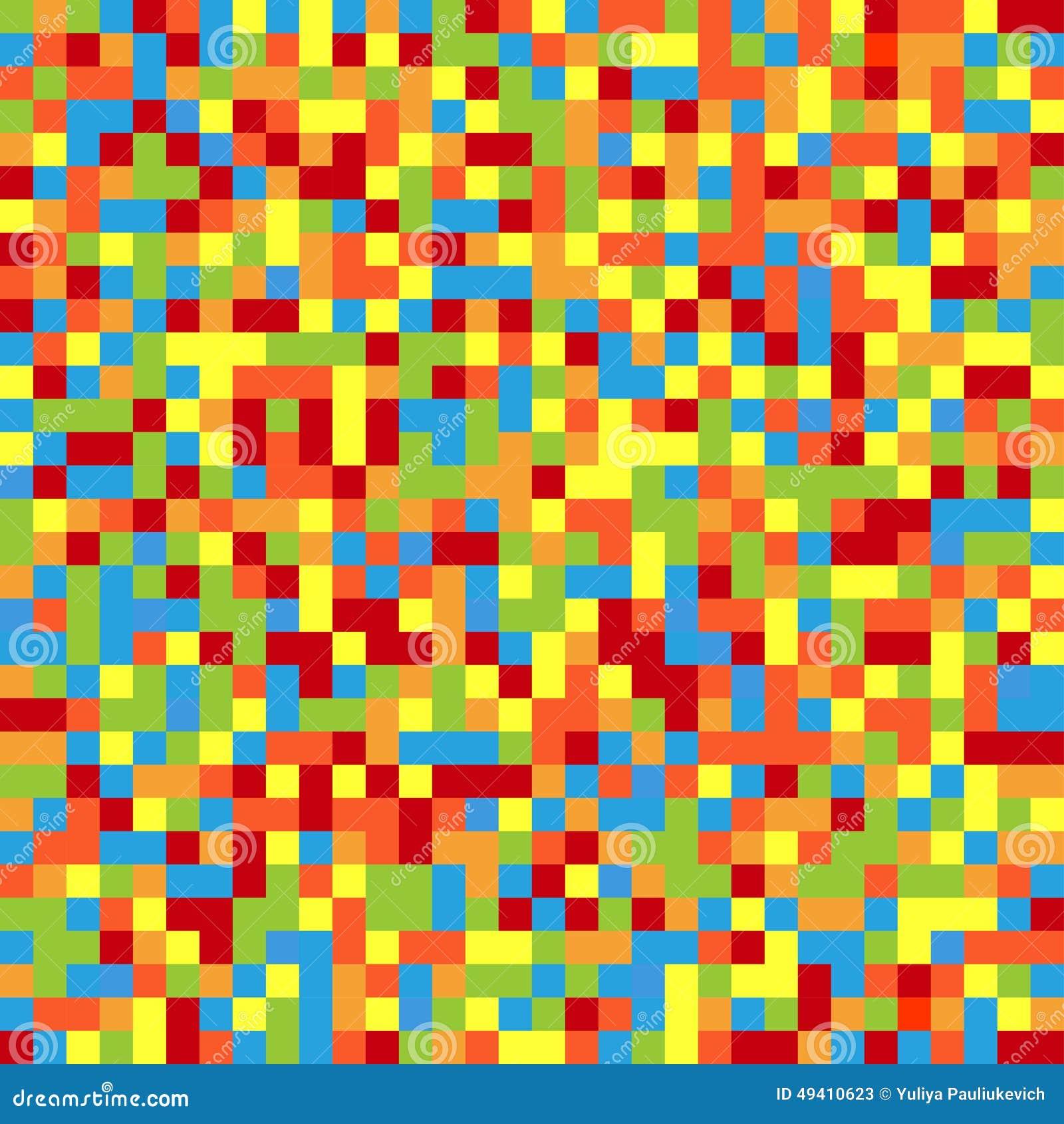 Download Bunter Pixelated Hintergrund Vektor Abbildung - Illustration von muster, geometrisch: 49410623