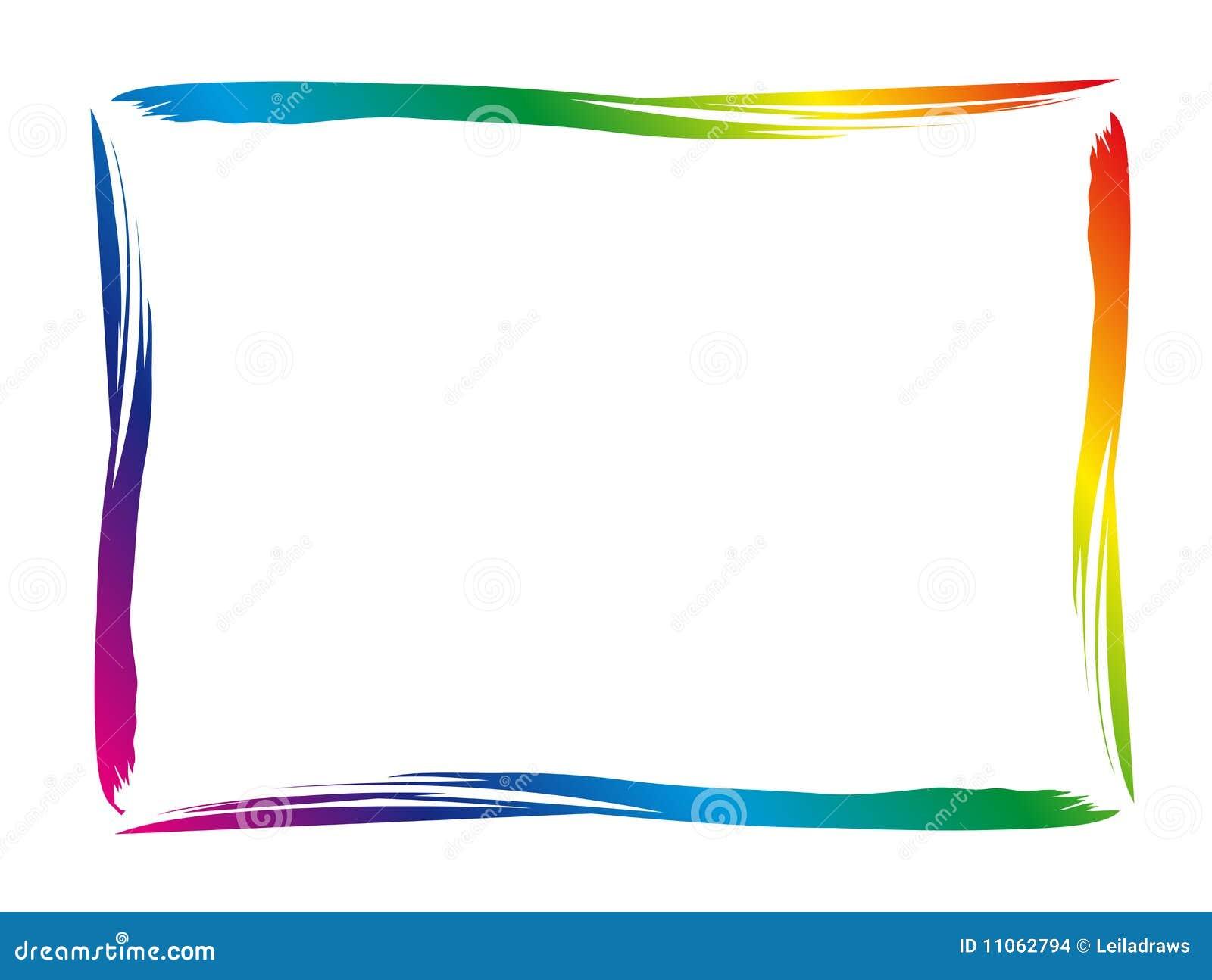 bunter rand vektor abbildung illustration von regenbogen. Black Bedroom Furniture Sets. Home Design Ideas