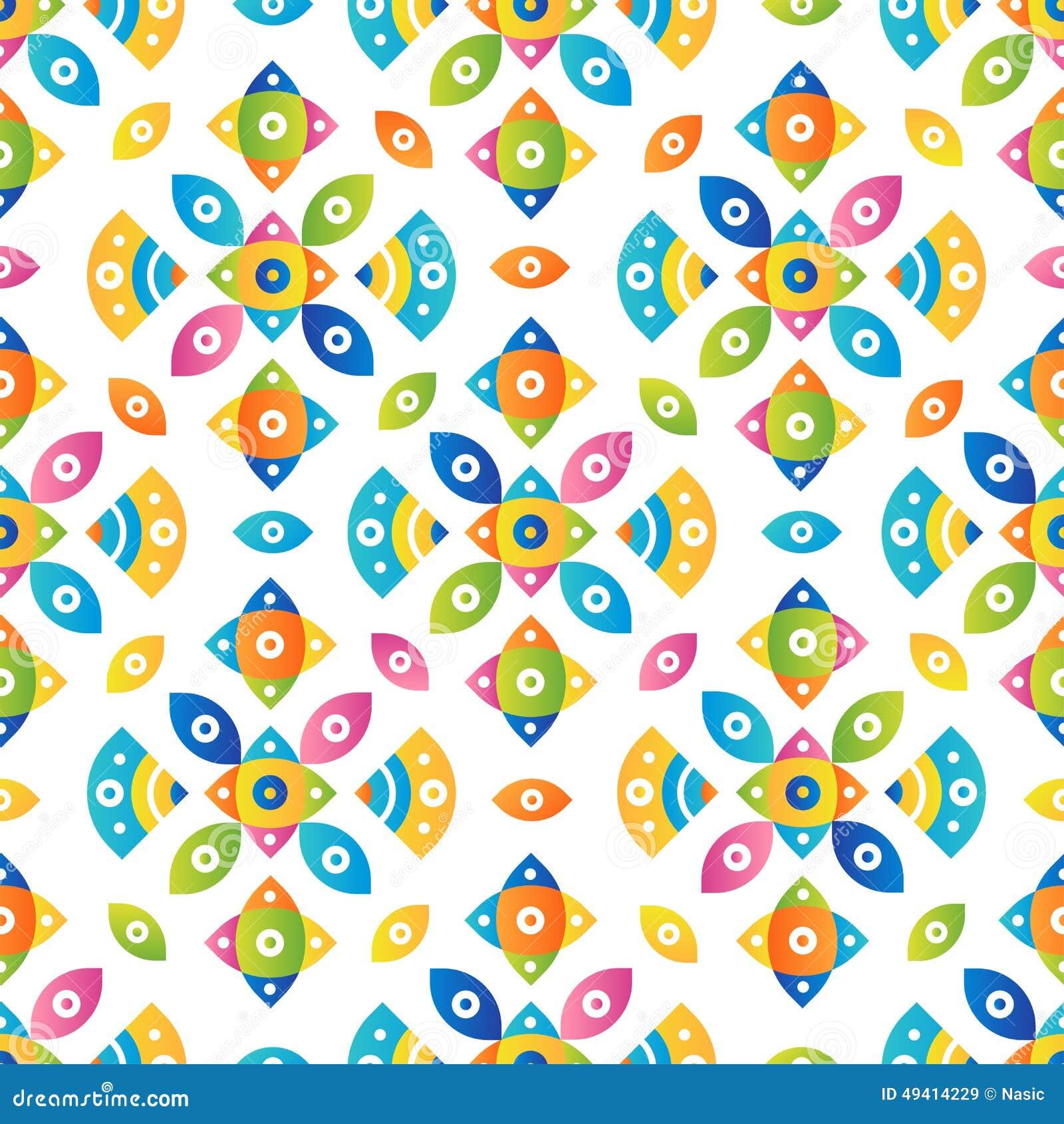 Download Bunter Tileable Musterhintergrund Vektor Abbildung - Illustration von steigung, fashion: 49414229