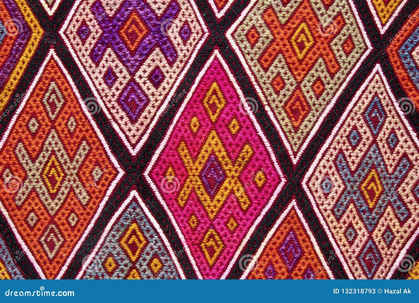 Bunter und kopierter Teppich