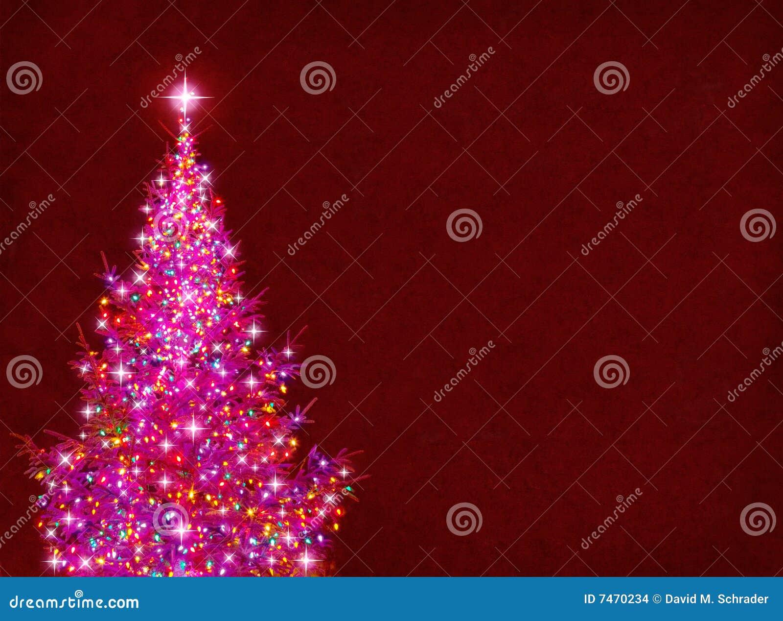 bunter weihnachtsbaum stock abbildung bild von gl hen. Black Bedroom Furniture Sets. Home Design Ideas