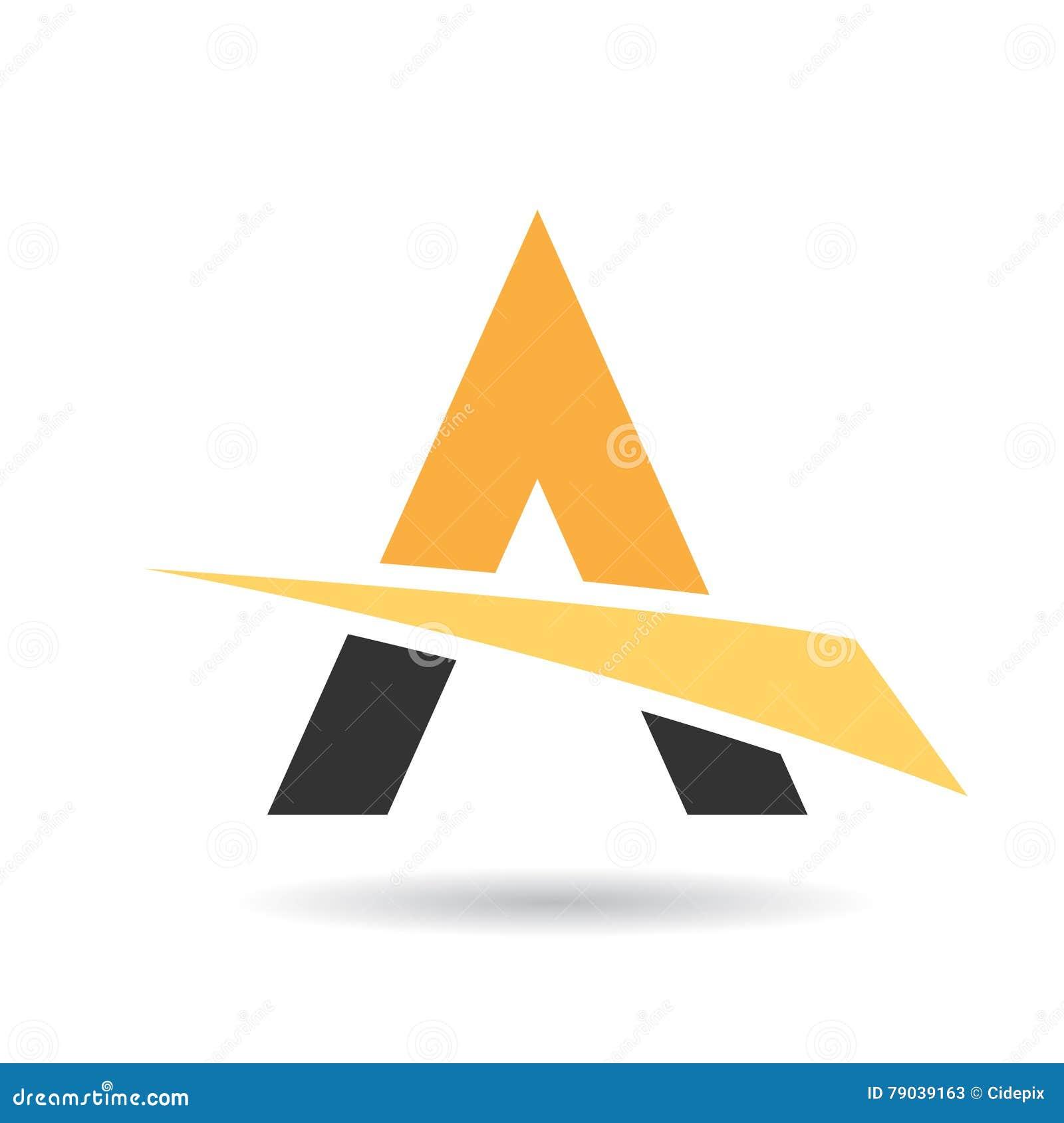Buntes Abstraktes Dreieck-Symbol Von Buchstaben A Vektor Abbildung ...
