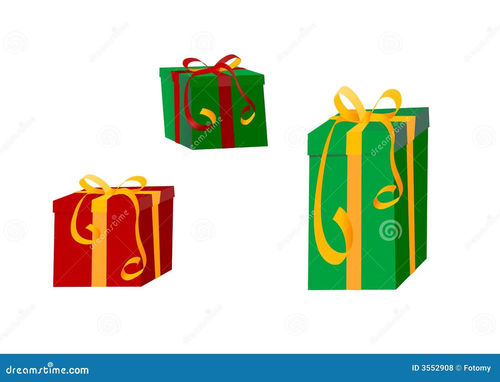 Buntes Geschenk eingewickelte Geschenke