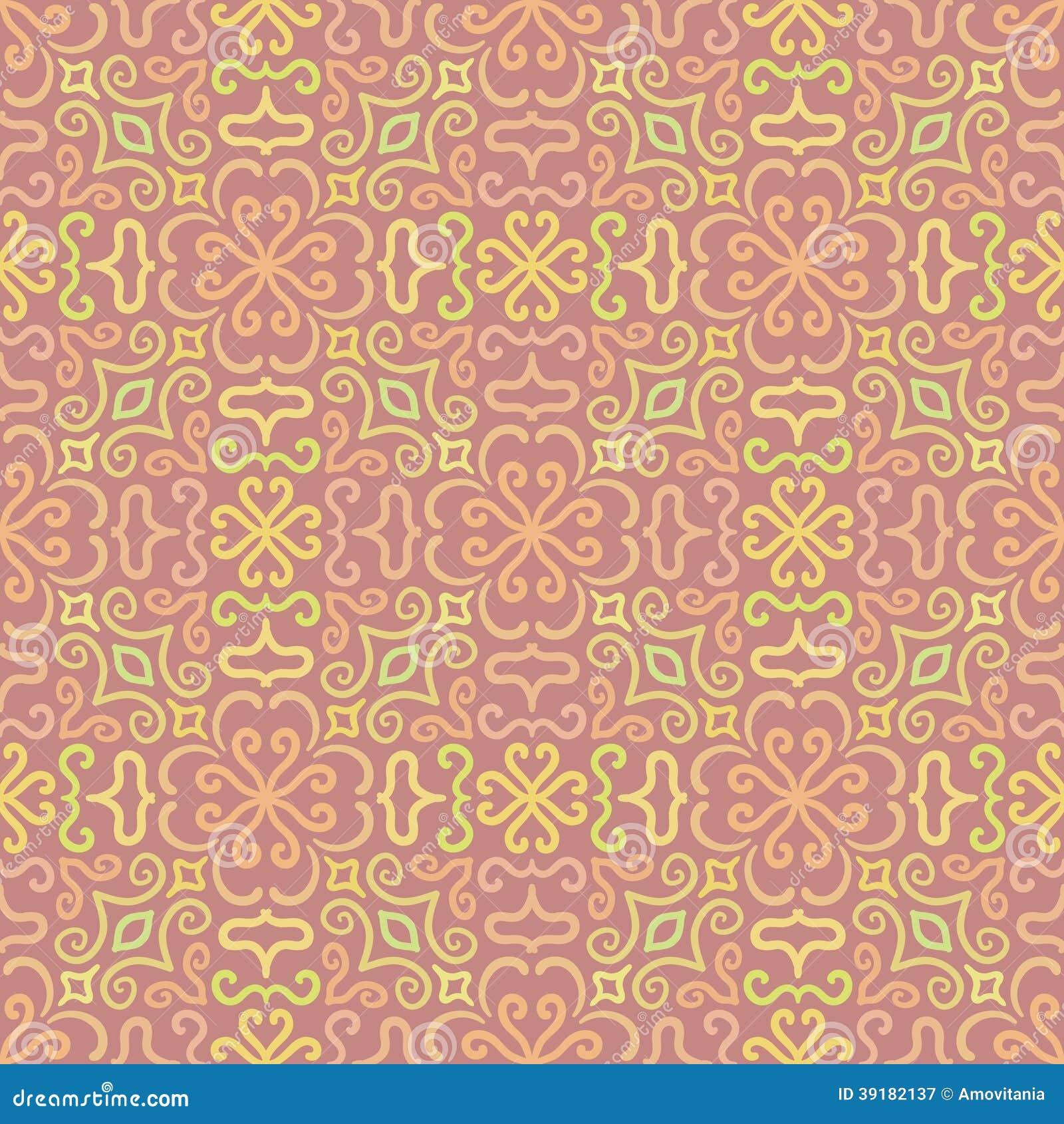 buntes grafisches blumenmuster auf rosa hintergrund vektor abbildung bild 39182137. Black Bedroom Furniture Sets. Home Design Ideas