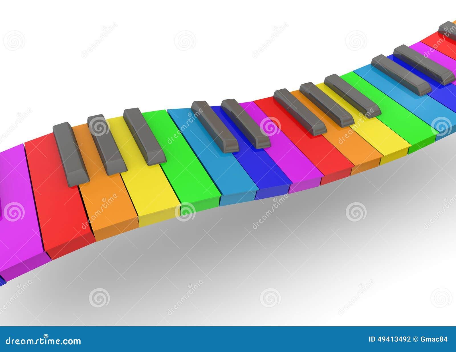 Download Buntes Klavier - 3D stock abbildung. Illustration von klavier - 49413492