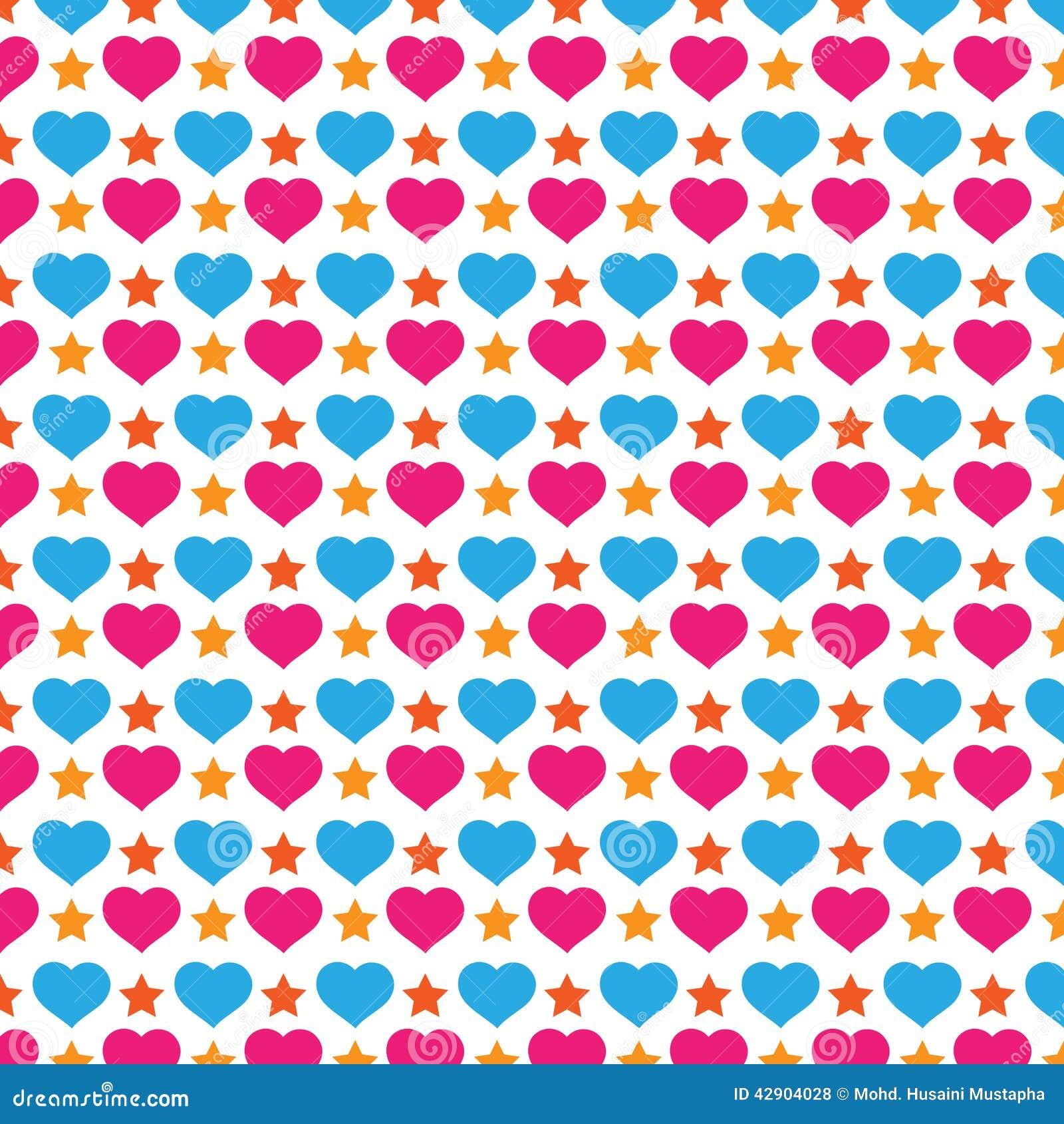 download buntes liebes und stern hintergrund muster vektor abbildung illustration von liebe - Stern Muster