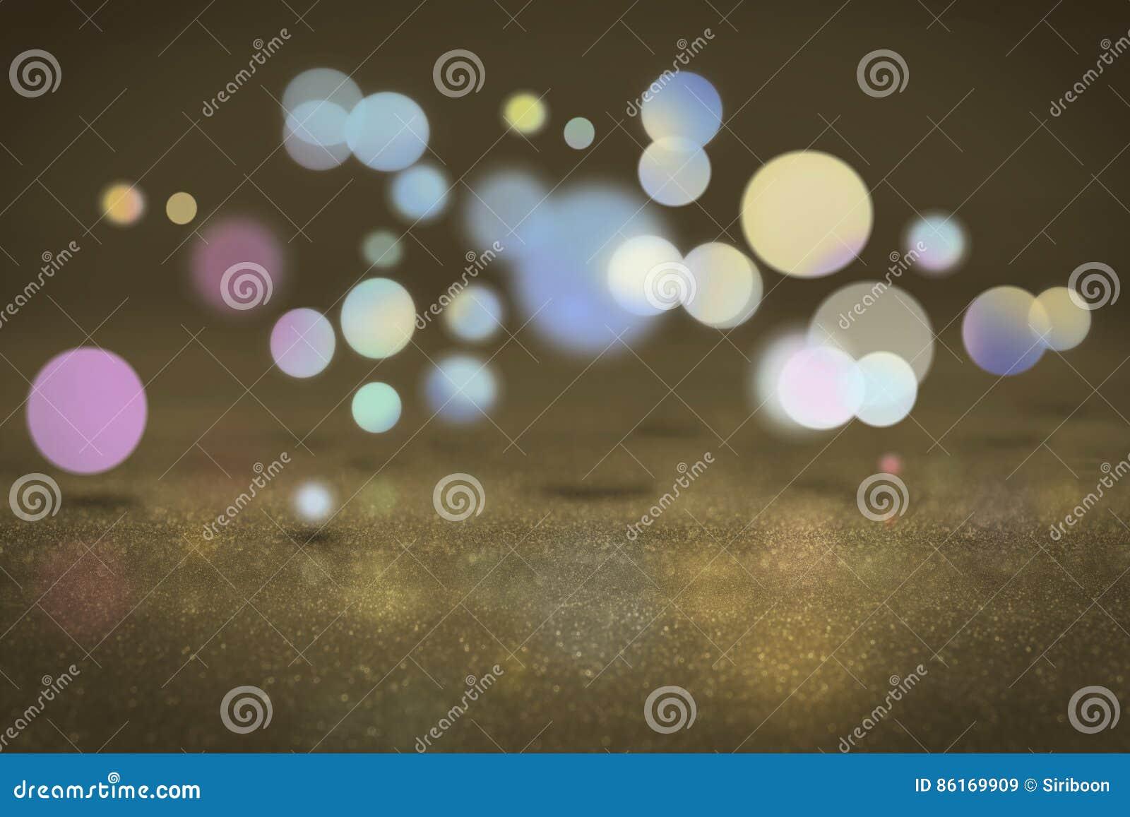 buntes schwimmen bokeh-kreises auf die oberfläche stockfoto - bild
