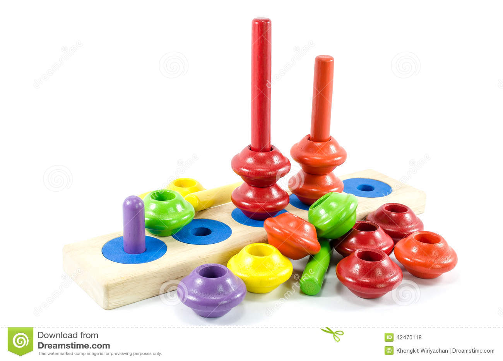 Buntes Spielzeug lokalisiert