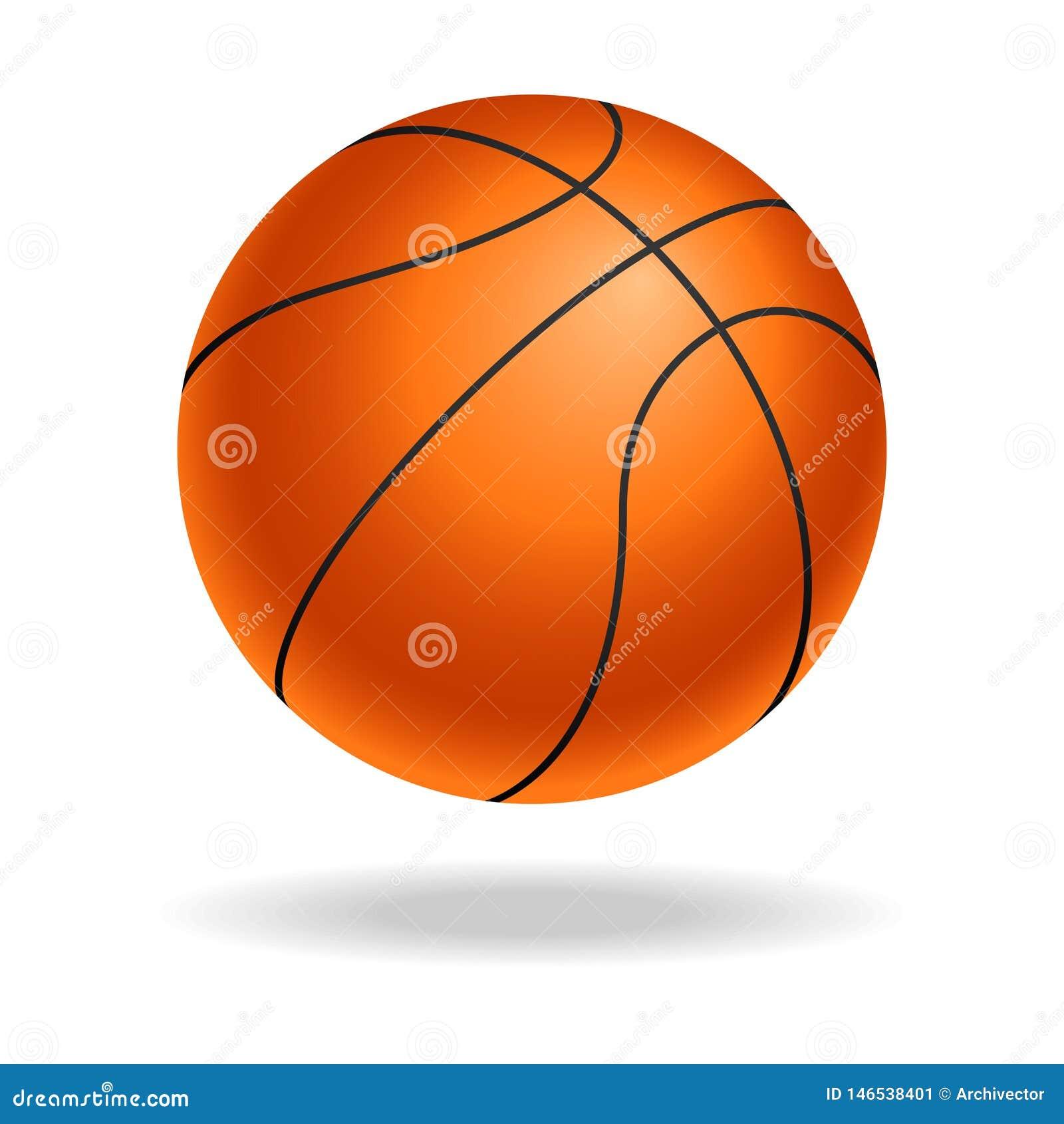 Buntes Zeichen des Basketballballs