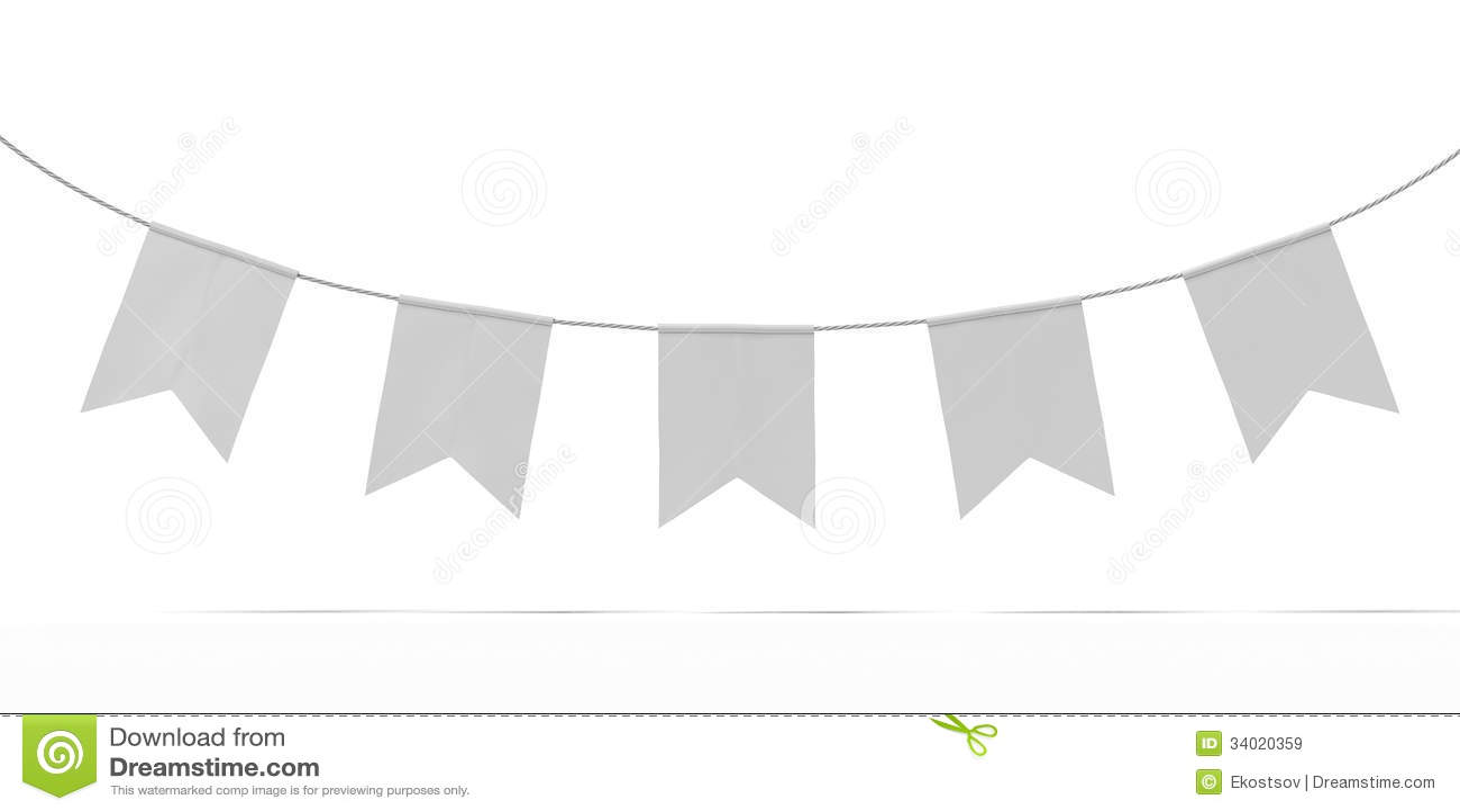 Bunting Banner Garland stock illustration. Illustration of ...