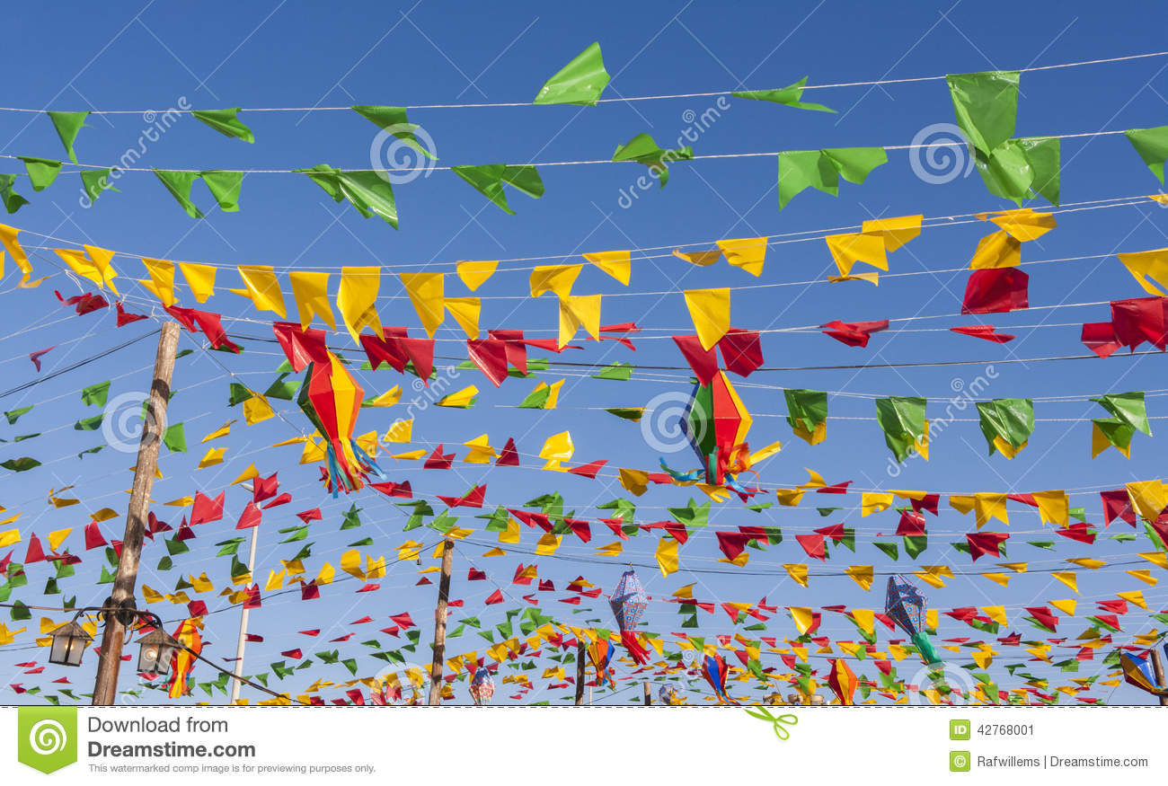 Bunting colorful party flags on a blue sky stock image image royalty free stock photo buycottarizona Images