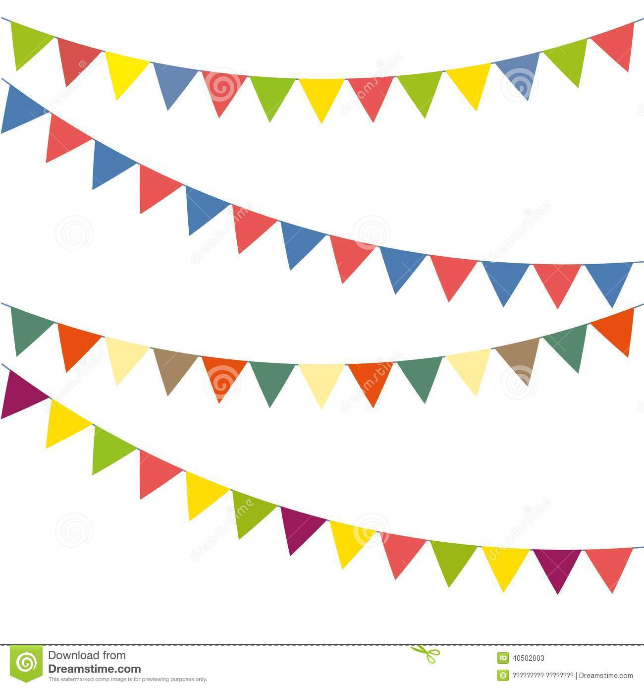 Bunting colorful set stock vector. Illustration of element - 40502003
