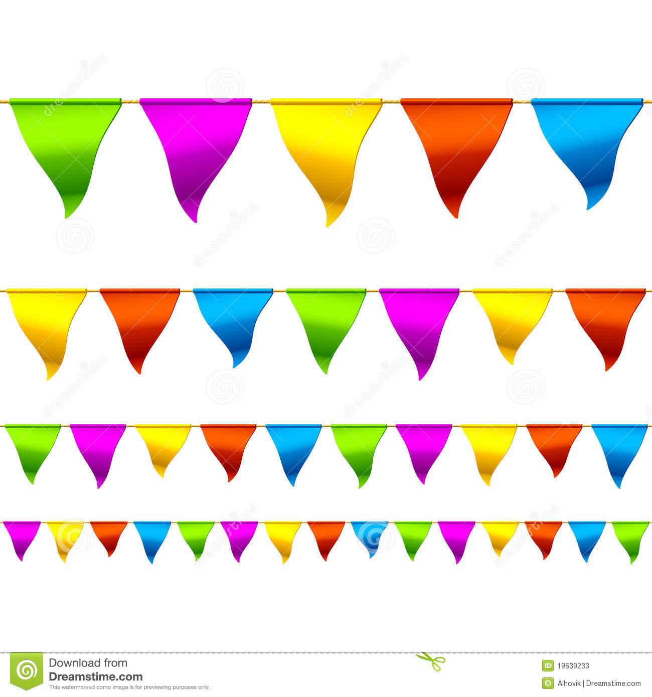 Triangle Flag Banner Clipart Party bunting flags border