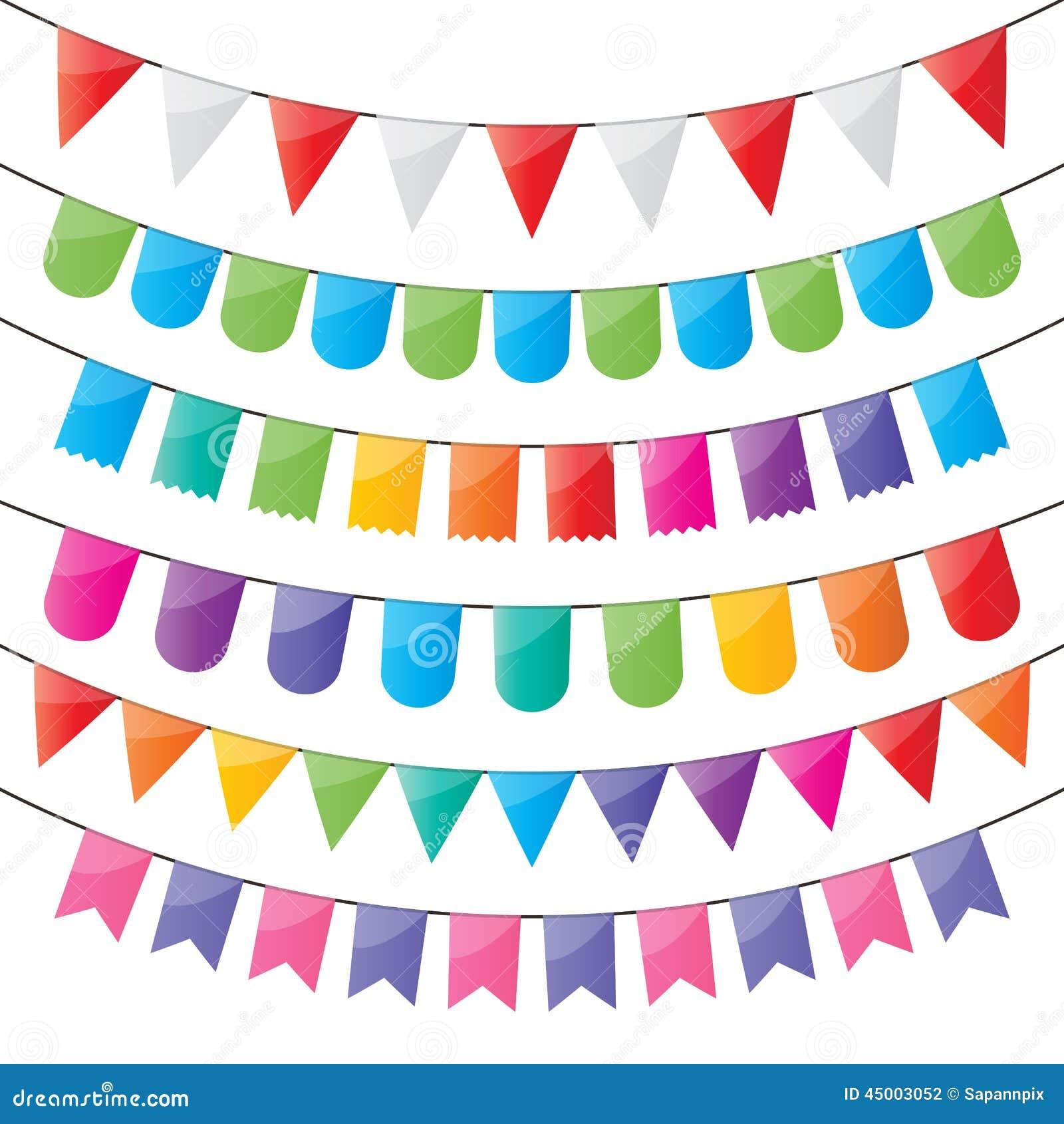 Bunting- och partiflaggor