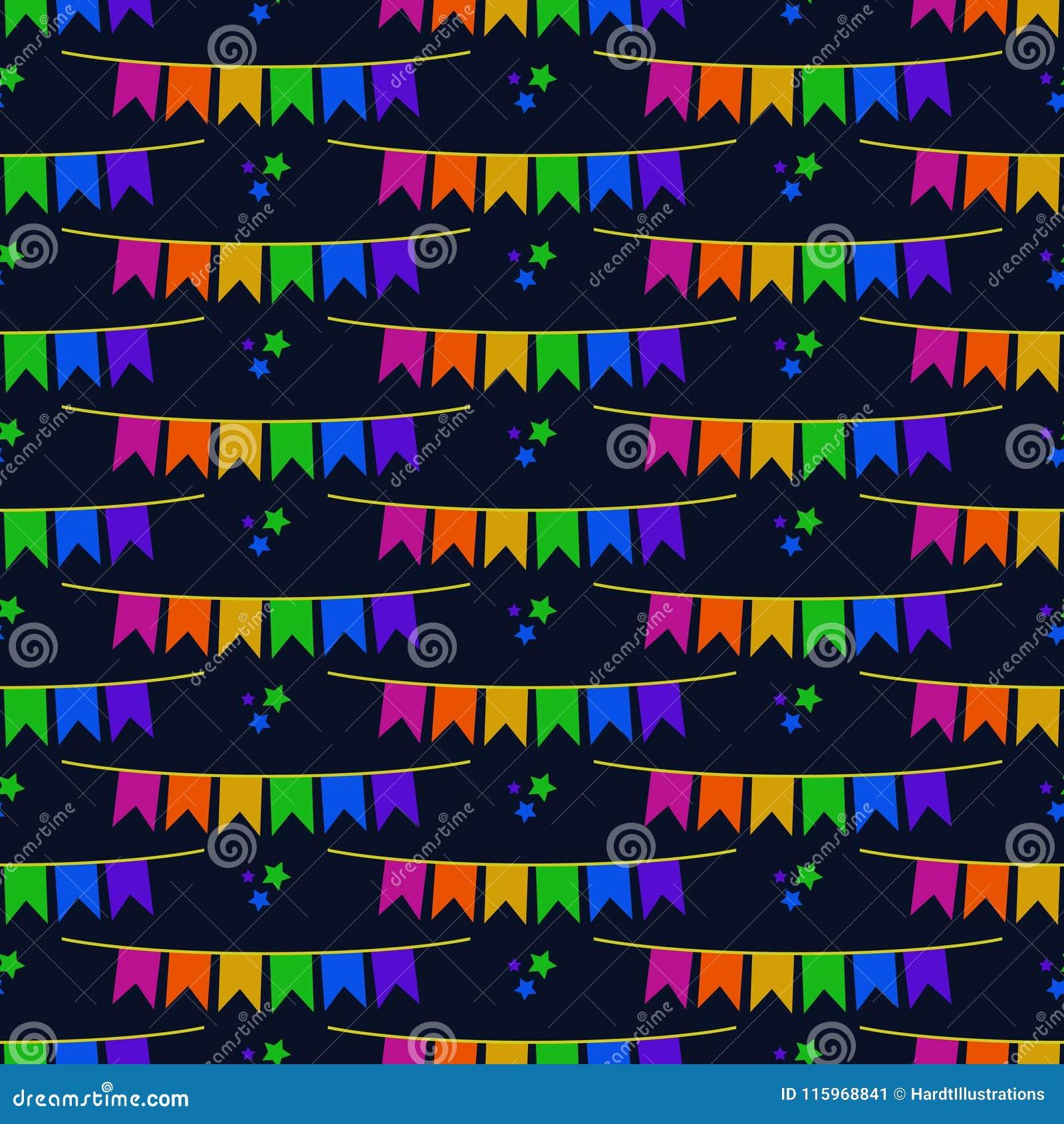 Bunting van Festajunina Banners Naadloos Patroon