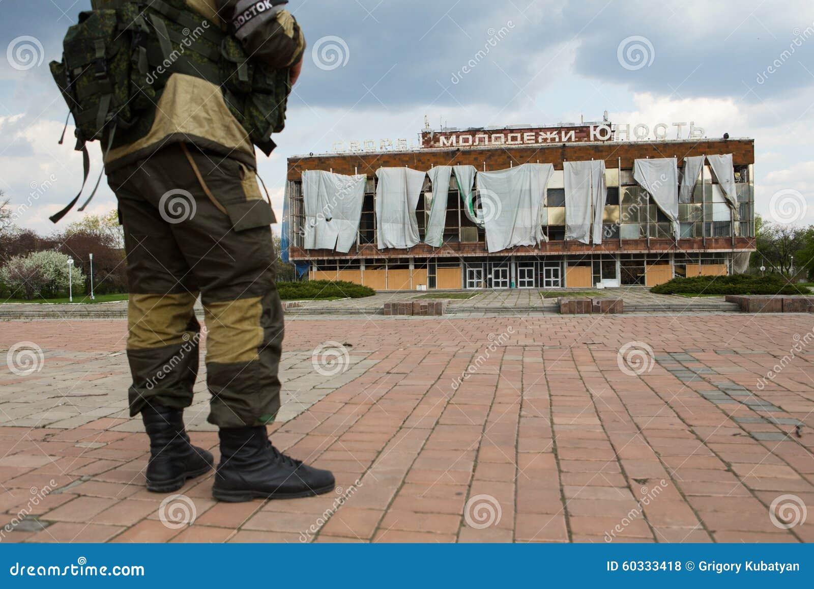 Buntowniczy żołnierz w Ukraina
