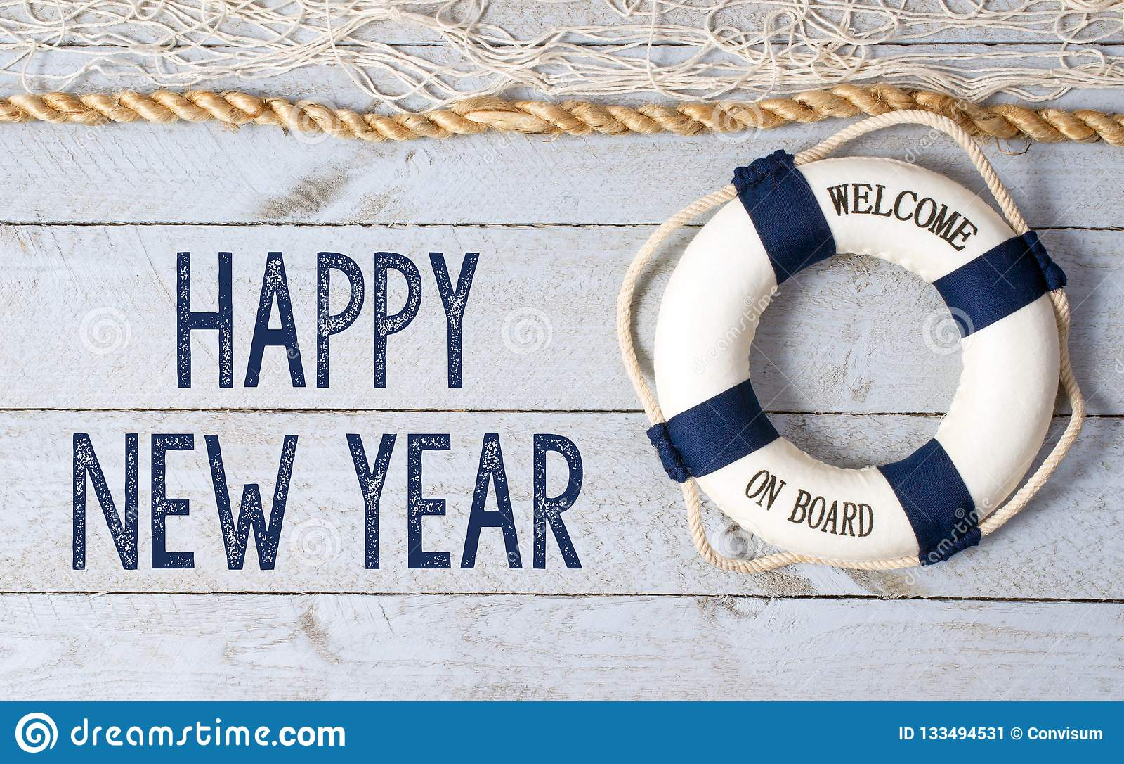 Buon anno - benvenuto a bordo