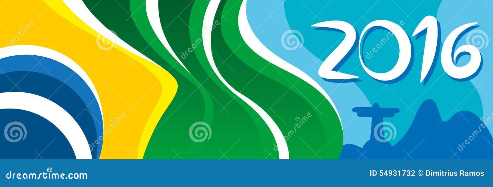 Buon anno con la bella bandiera del Brasile in città meravigliosa