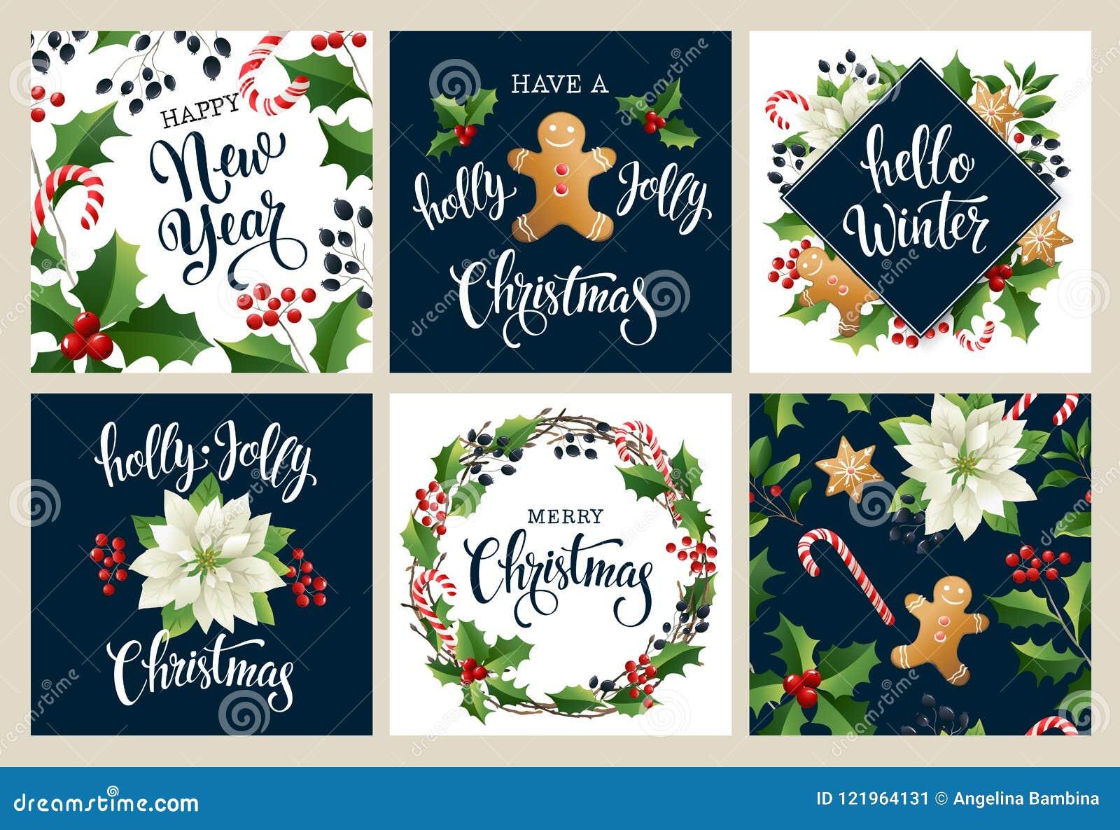 Buon anno 2019 Buon Natale bianco e collors neri Progetti per il manifesto, la carta, l invito, il cartello, il flayer, opuscolo