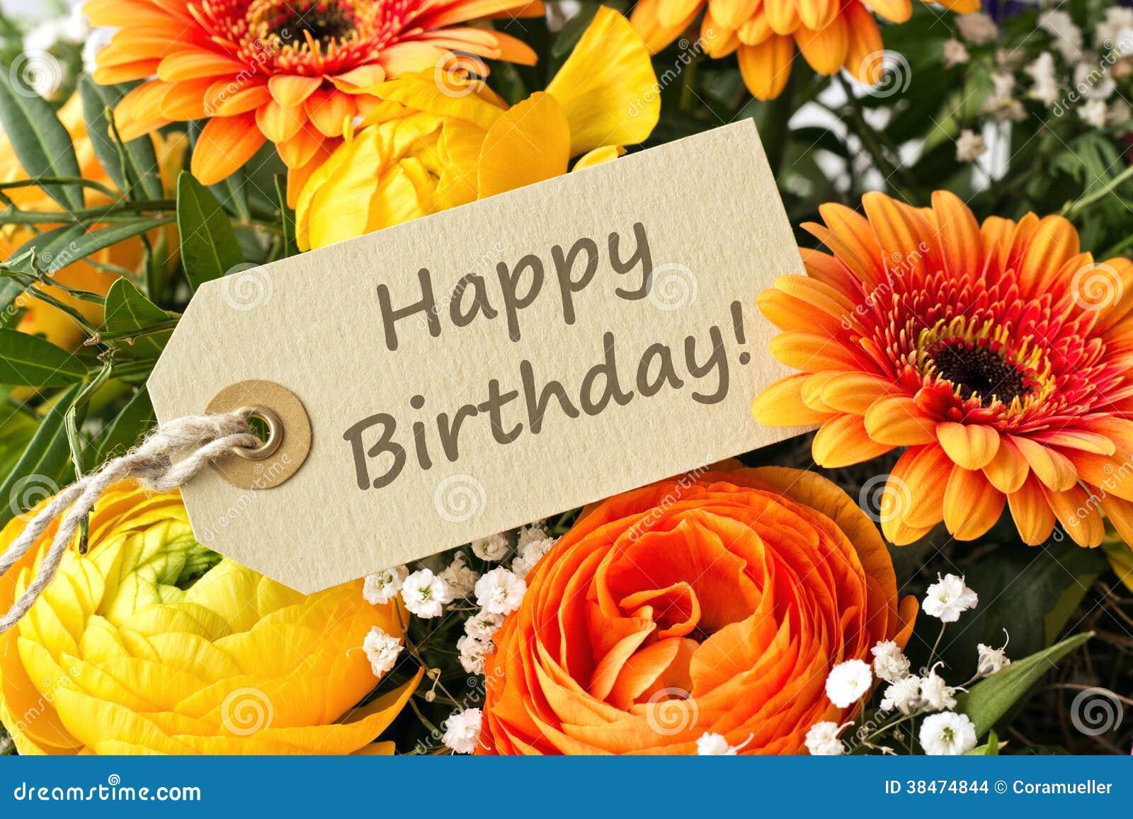 Conosciuto Buon compleanno fotografia stock. Immagine di fiori, felice - 38474844 QK82