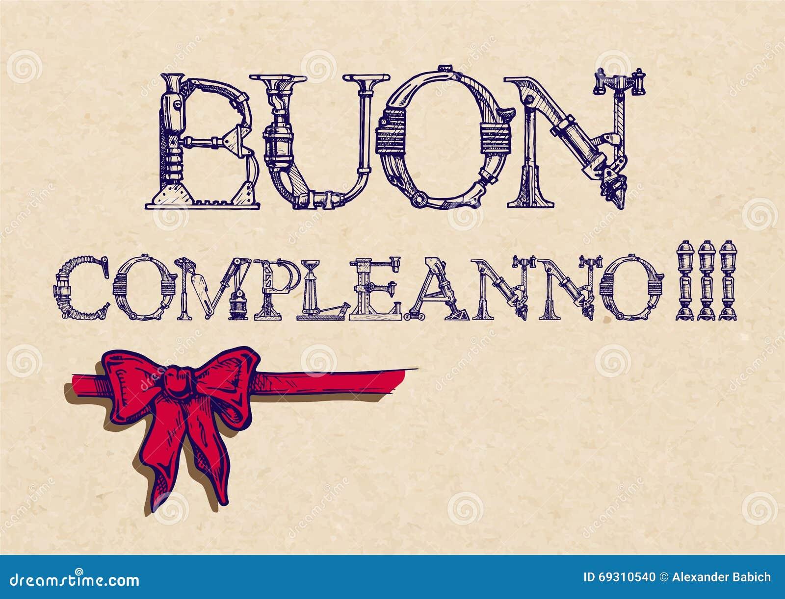Buon compleanno alles gute zum geburtstag vektor abbildung - Gute besserung italienisch ...