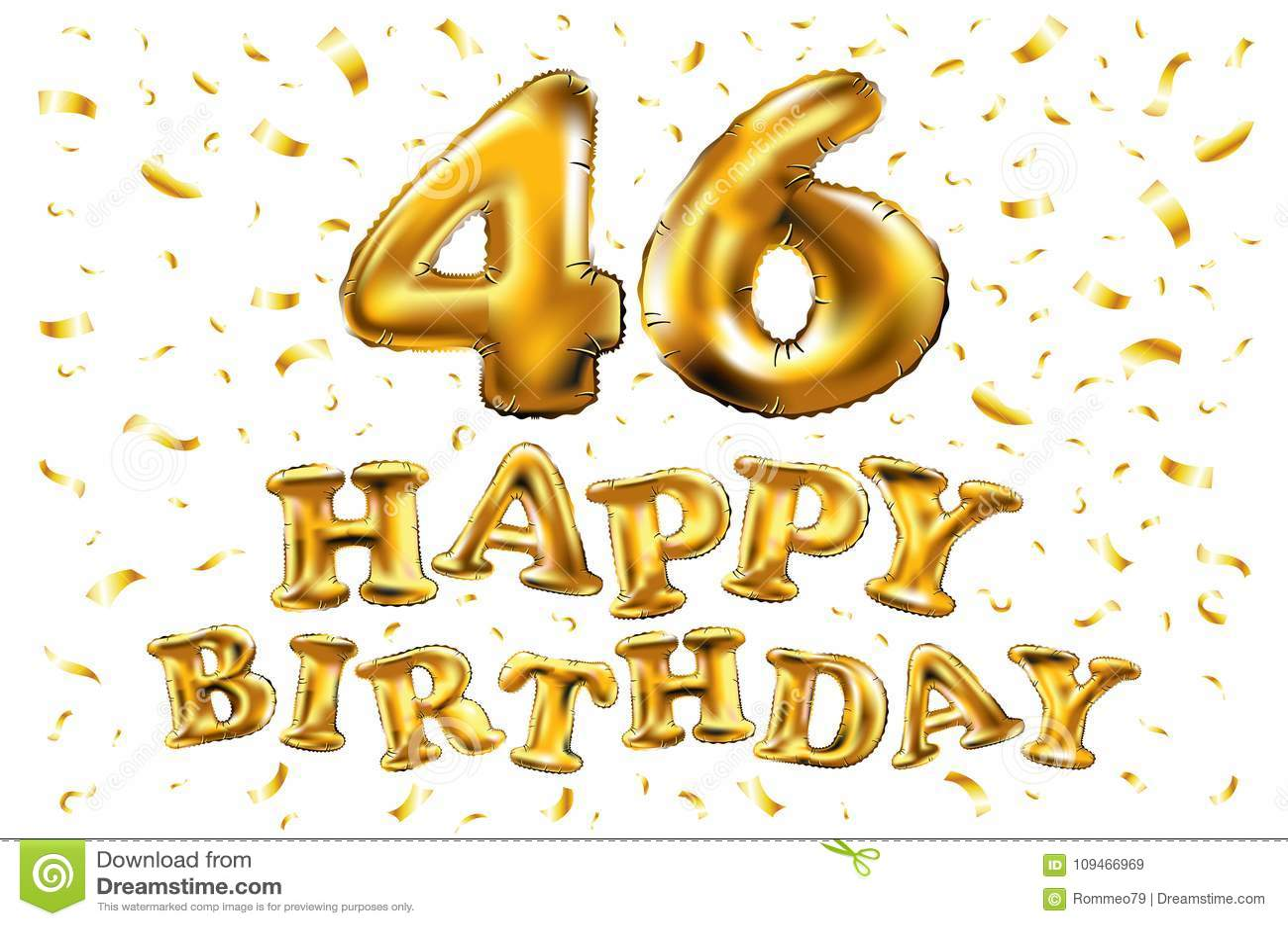 Buon Compleanno 46 Anni Di Anniversario Di Celebrazione Di Gioia