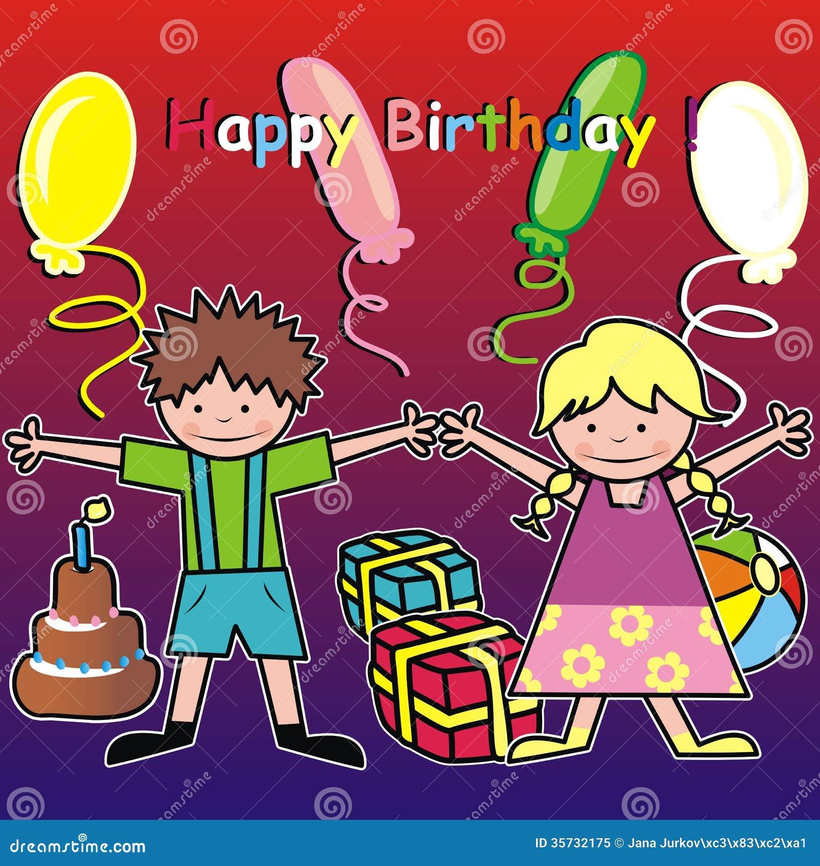 Favorito Buon compleanno - bambini illustrazione vettoriale. Immagine di  JE21