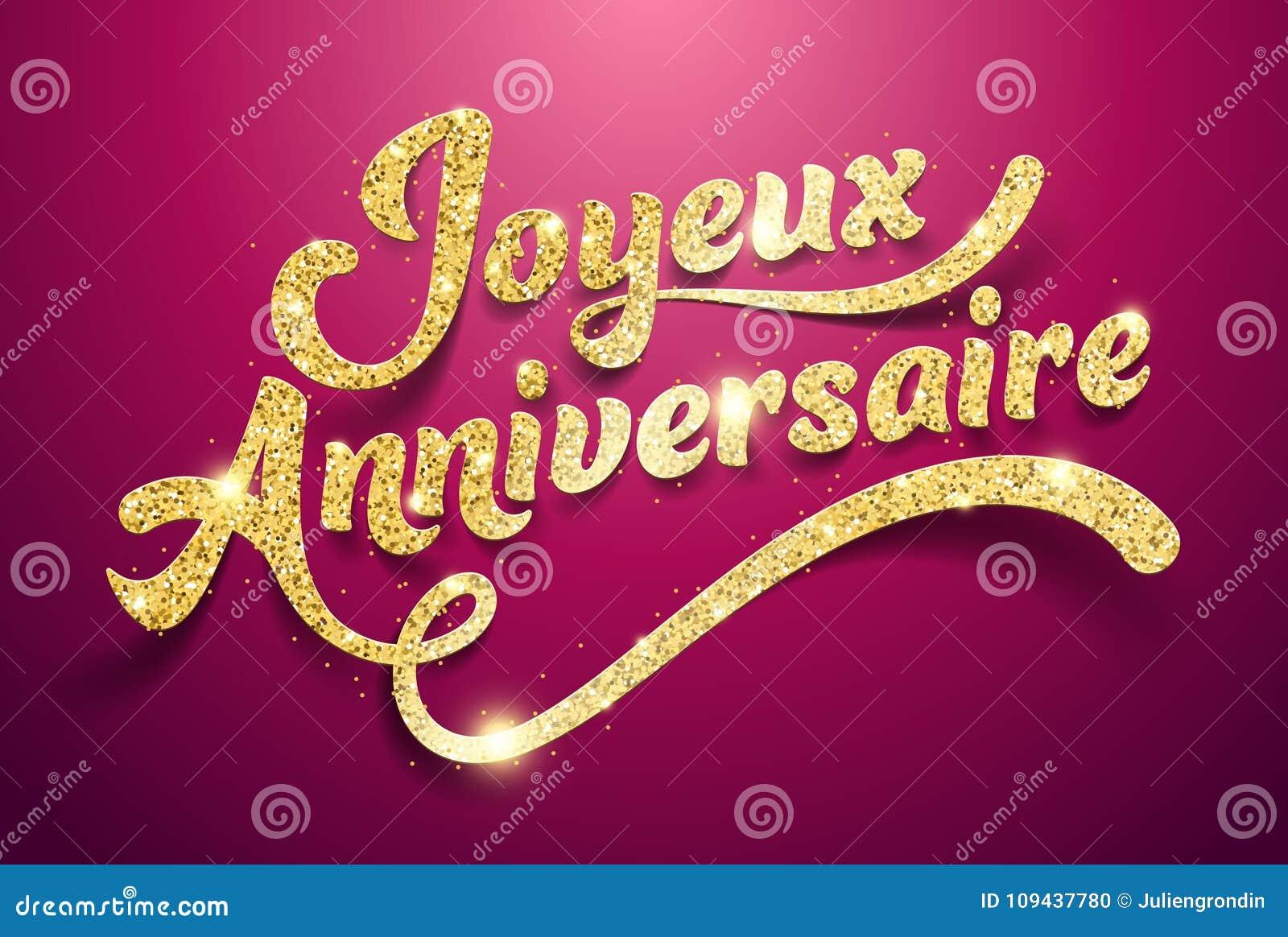 Buon Compleanno In Francese: Joyeux Anniversaire Illustrazione di