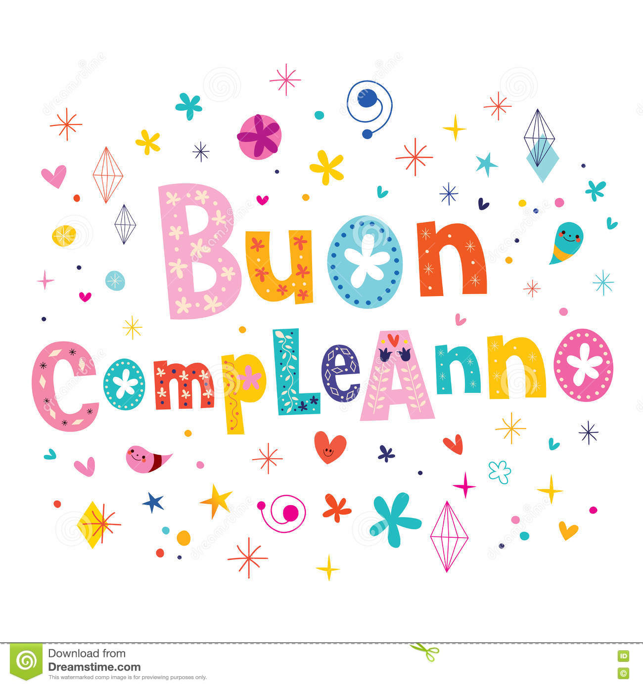 buon compleanno happy birthday in italian greeting card stock, Birthday card
