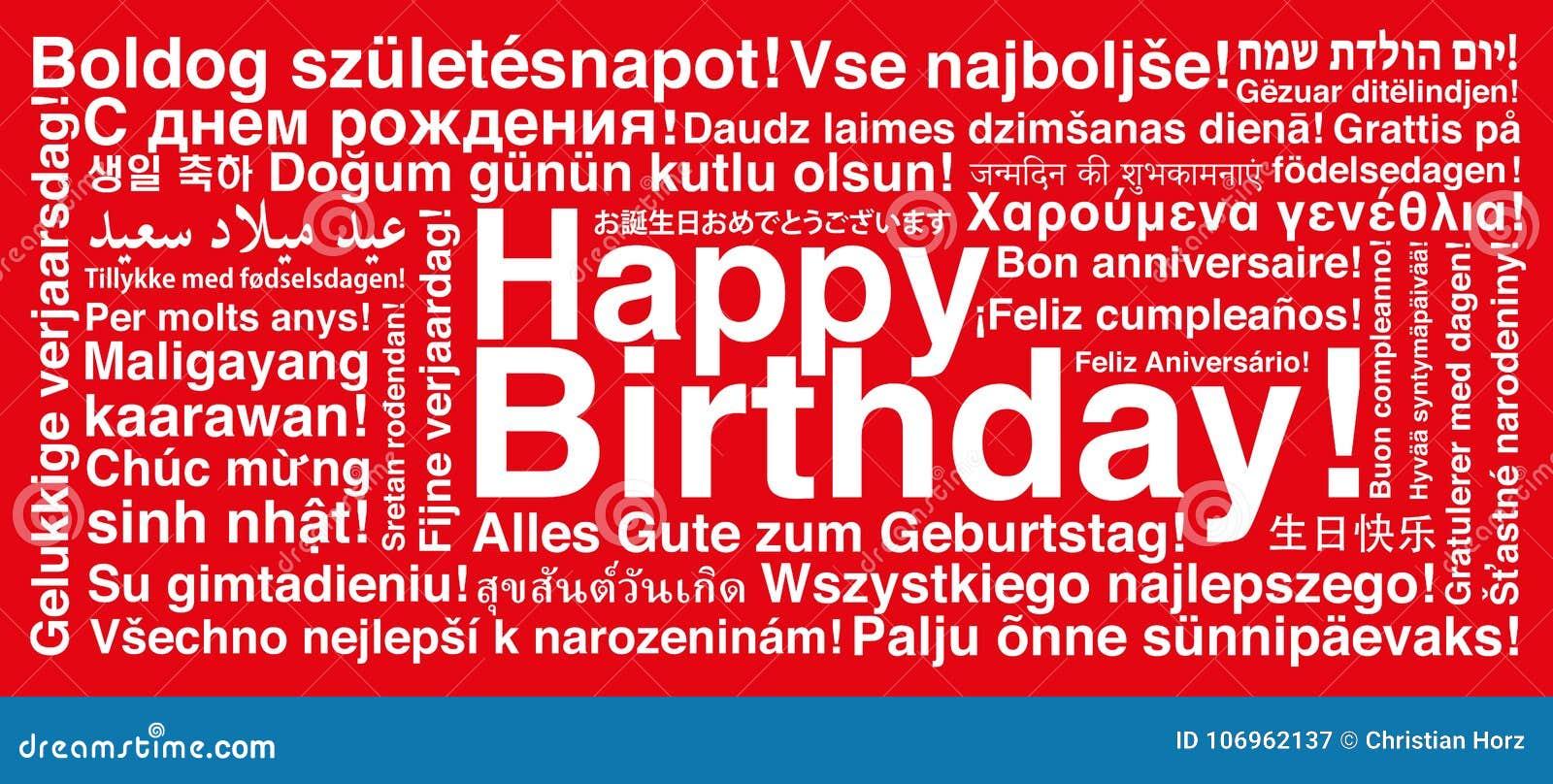 Buon Compleanno Nella Cartolina D Auguri Differente Del Wordcloud Di