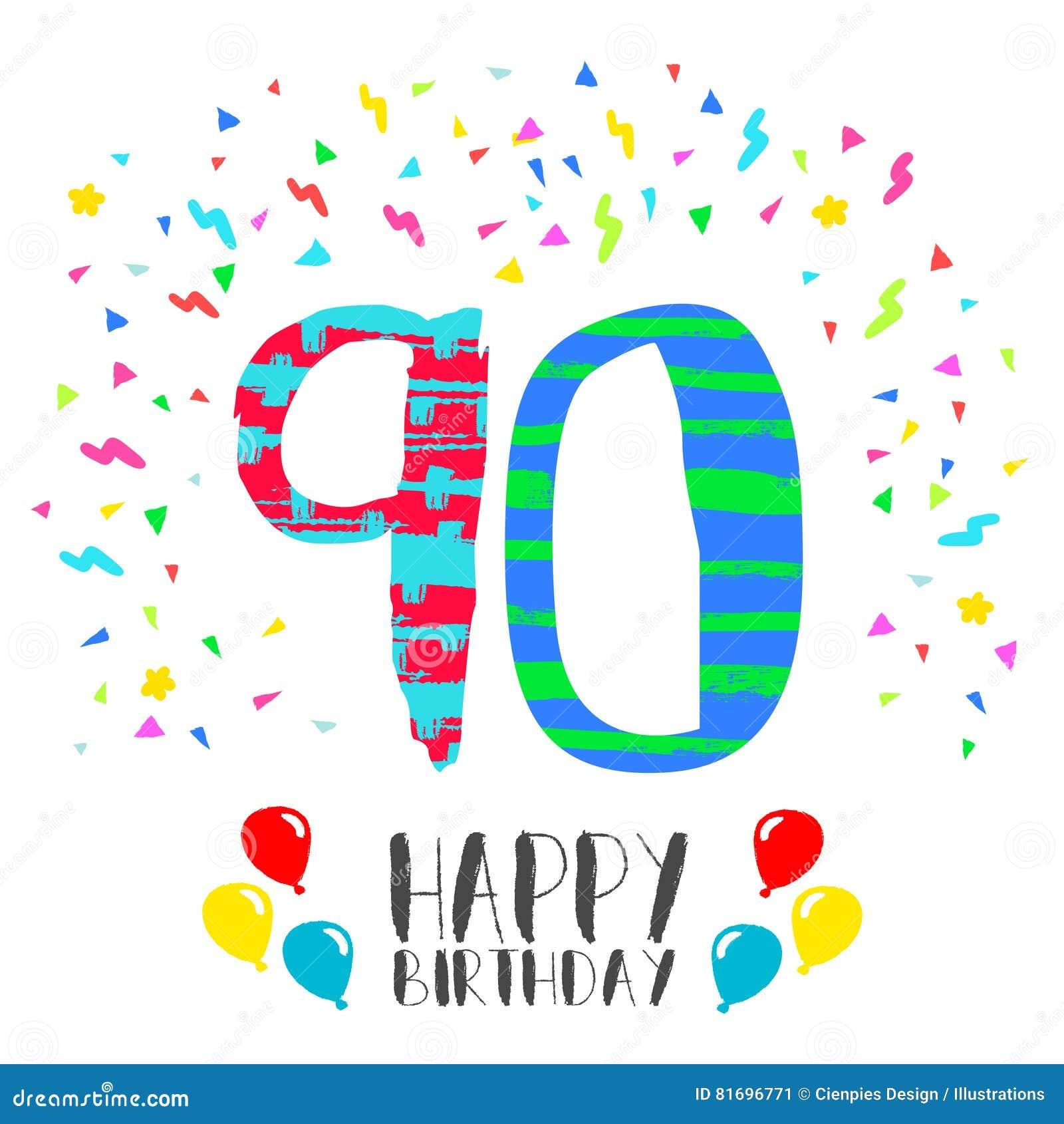 Auguri Di Buon Compleanno 90 Anni.Buon Compleanno Per La Carta Dell Invito Del Partito Da 90