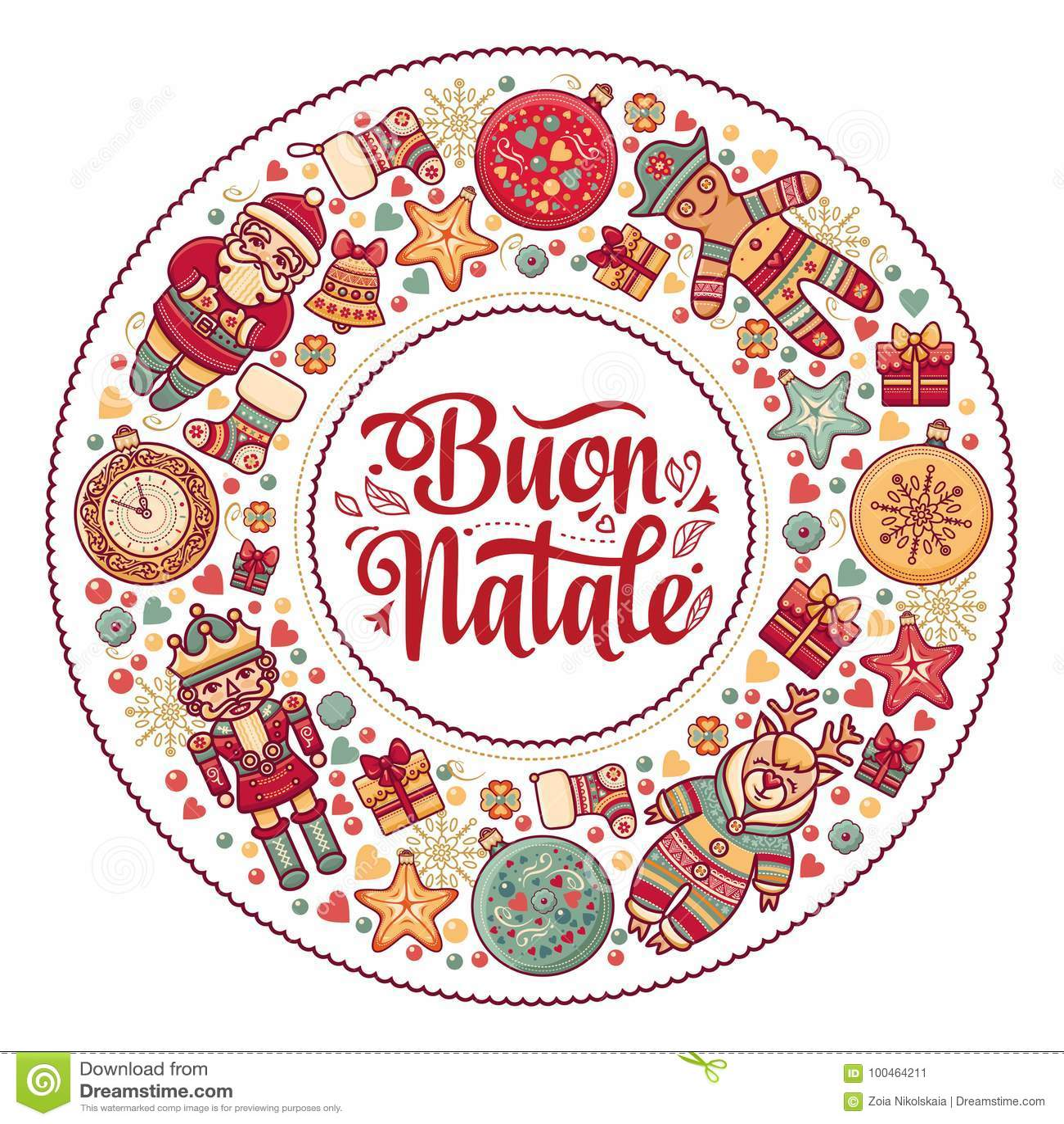 Buon Natale карточка 2007 приветствуя счастливое Новый Год Шаблон рождества Зимний отдых в Италии Поздравление на итальянке сбор