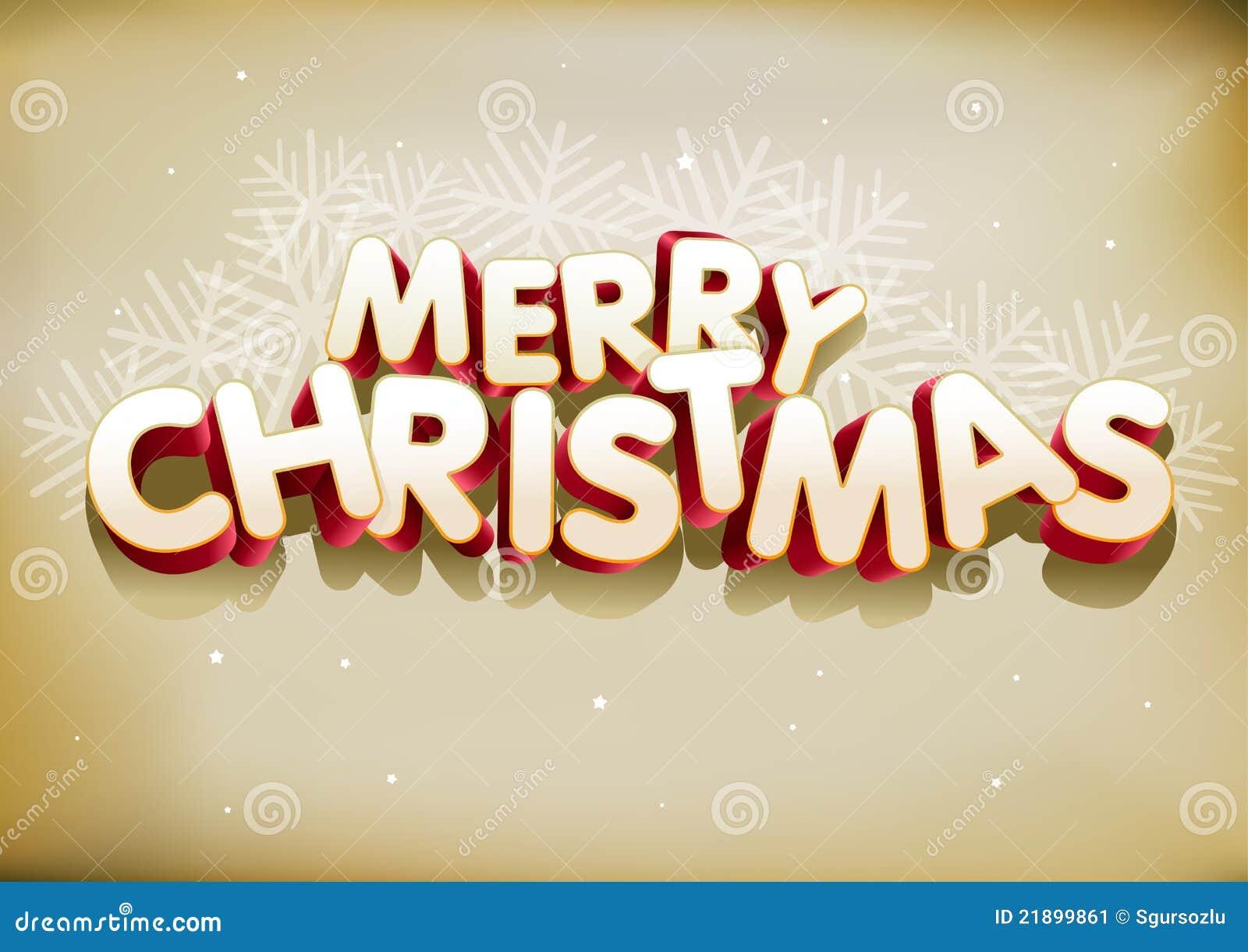 Buon Natale 3d.Buon Natale 3d Illustrazione Vettoriale Illustrazione Di Vecchio