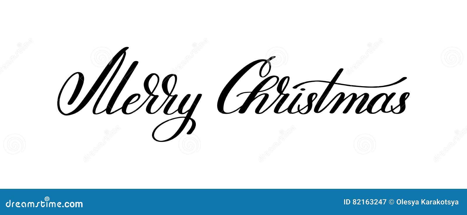 Immagini Natale In Bianco E Nero.Buon Natale In Bianco E Nero Dell Iscrizione Dell Iscrizione