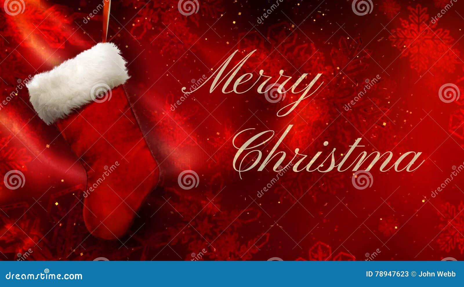 Sfondi Natalizi 4k.Buon Natale Che Immagazzina Sul Rosso Con Il Ciclo Dorato Dei Fiocchi 4k