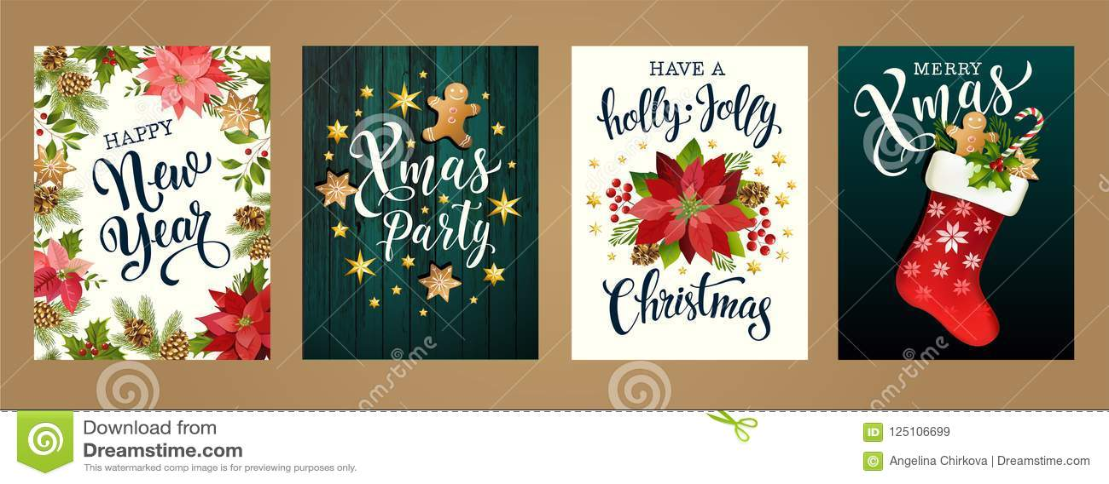 Buon Natale e buon anno colori bianchi e neri di 2019 Progetti per il manifesto, la carta, l invito, la carta, l aletta di filato