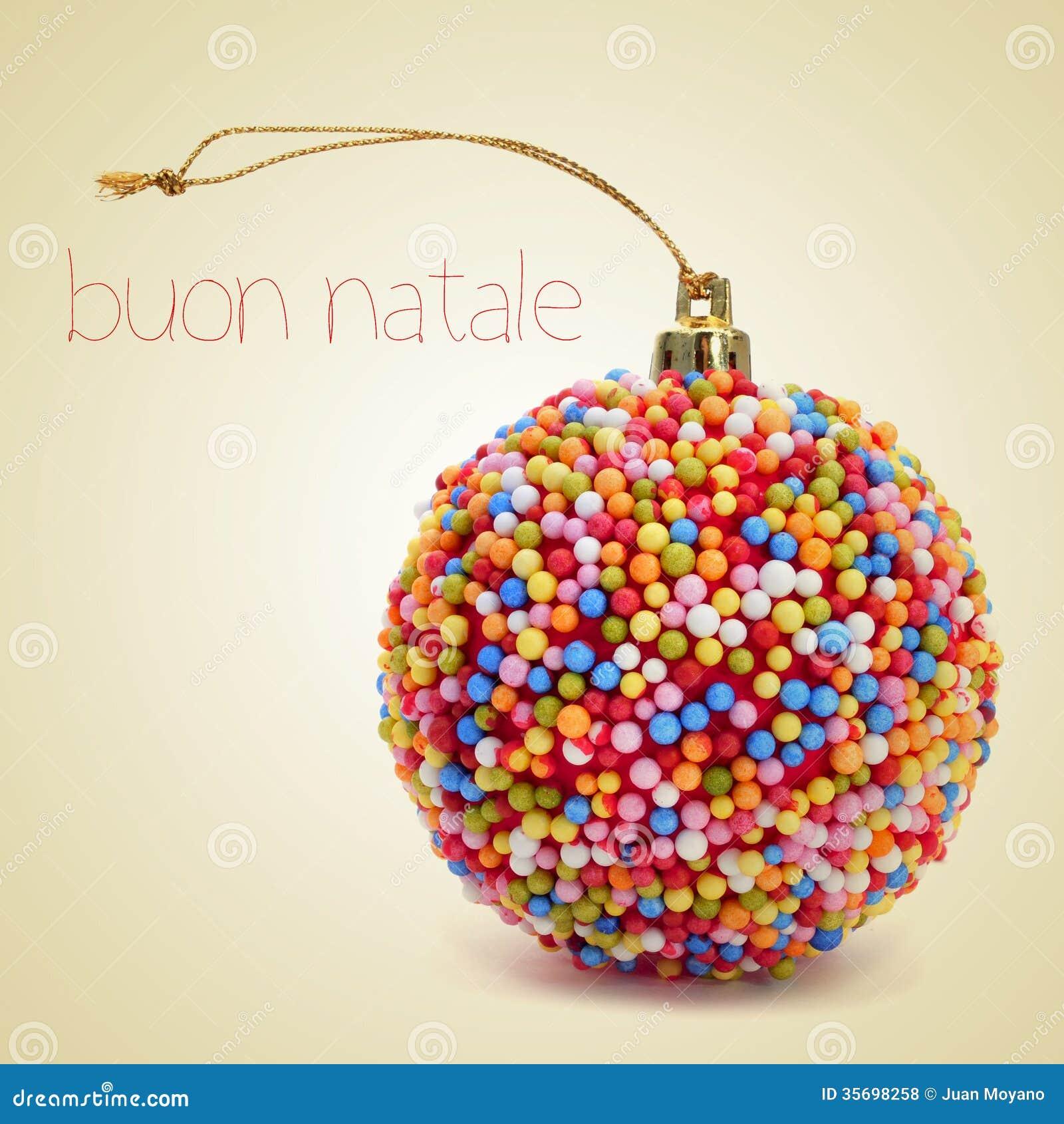 buon natale frohe weihnachten auf italienisch stockfoto bild von retro feiertag 35698258
