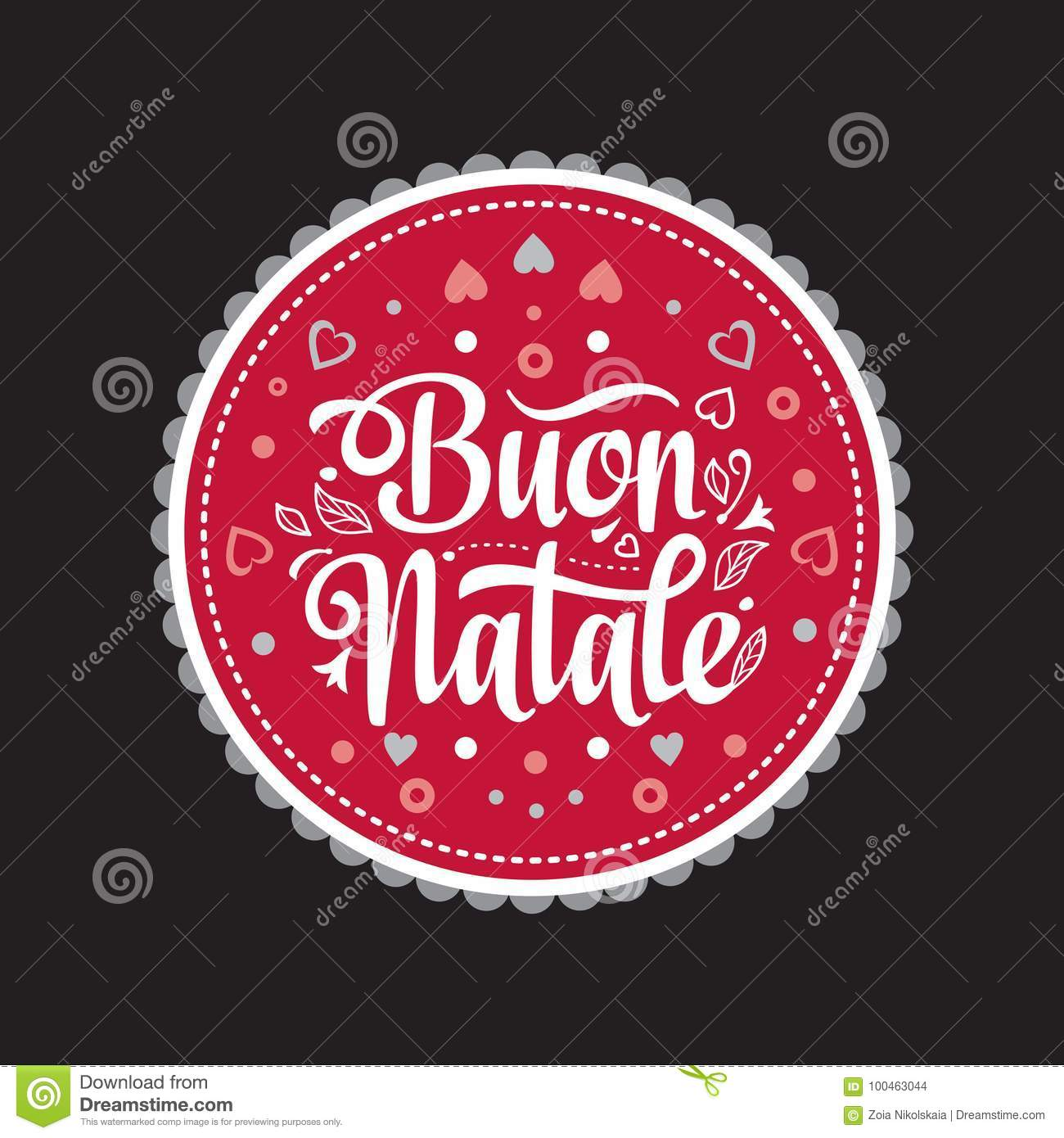 Buon Natale Greeting Card Christmas Template Winter Holiday In