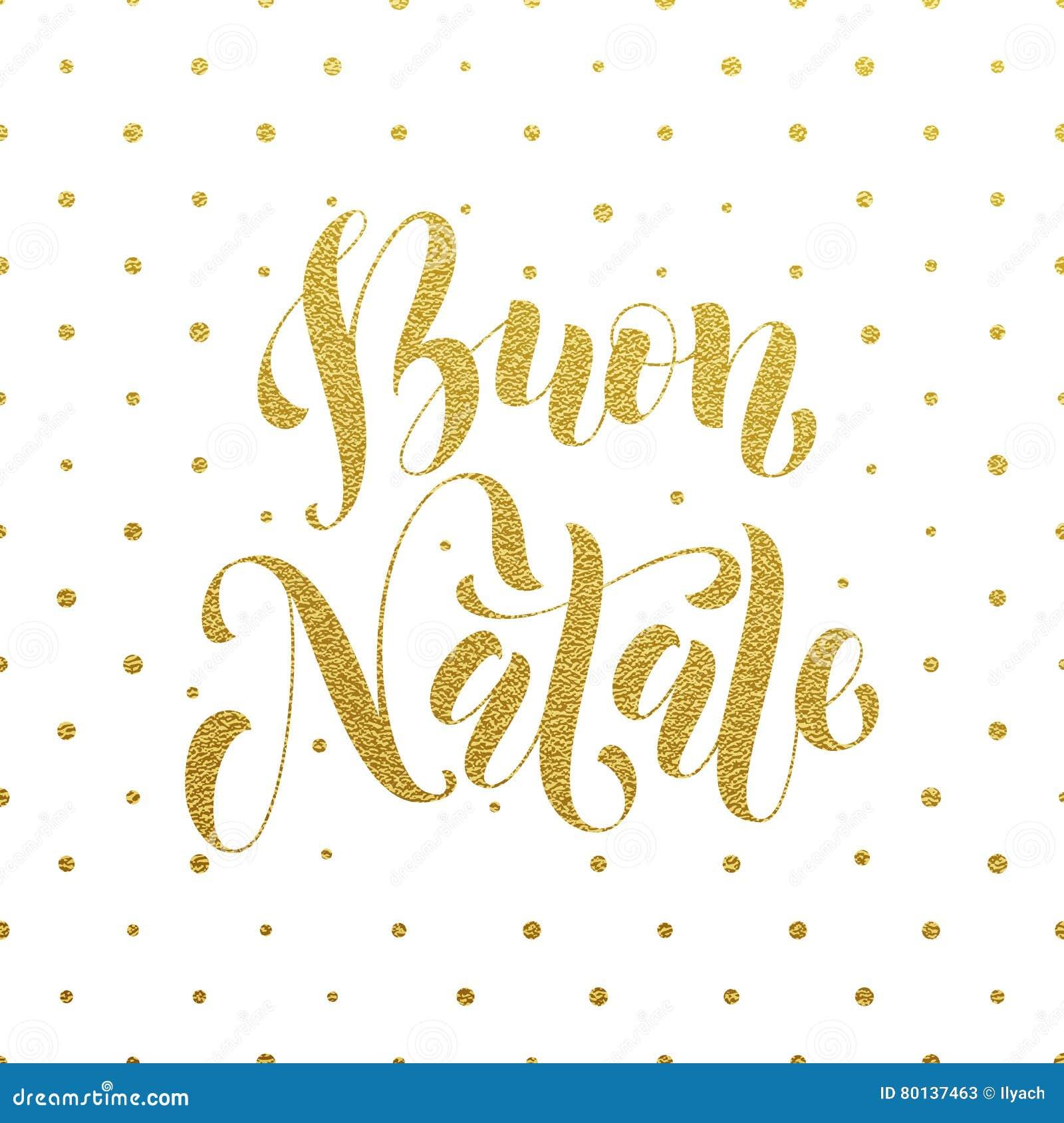 Buon Natale Glitter.Buon Natale Greeting Italian Merry Christmas Stock Illustration