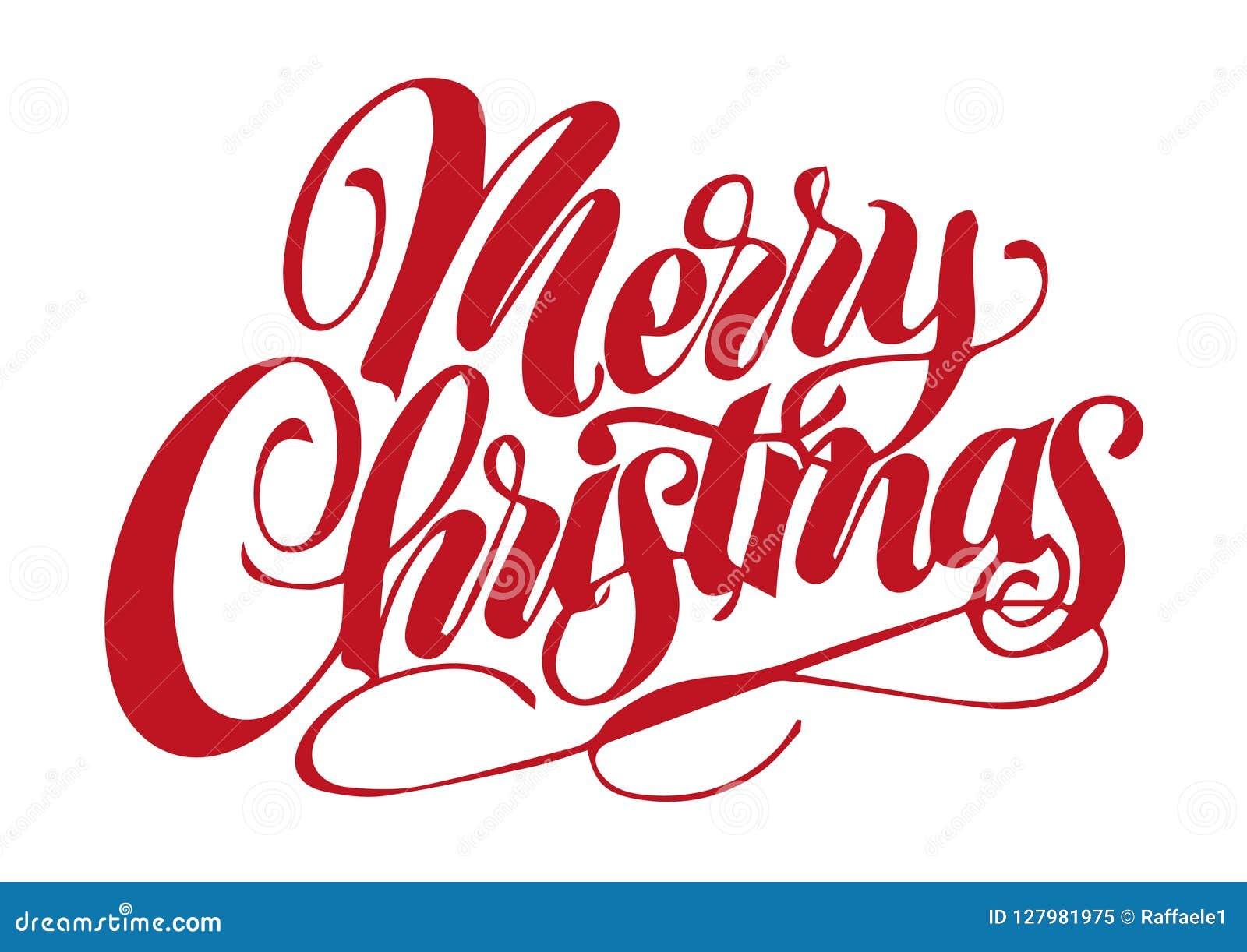 Buon Natale In Inglese.Buon Natale In Inglese Illustrazione Vettoriale Illustrazione Di