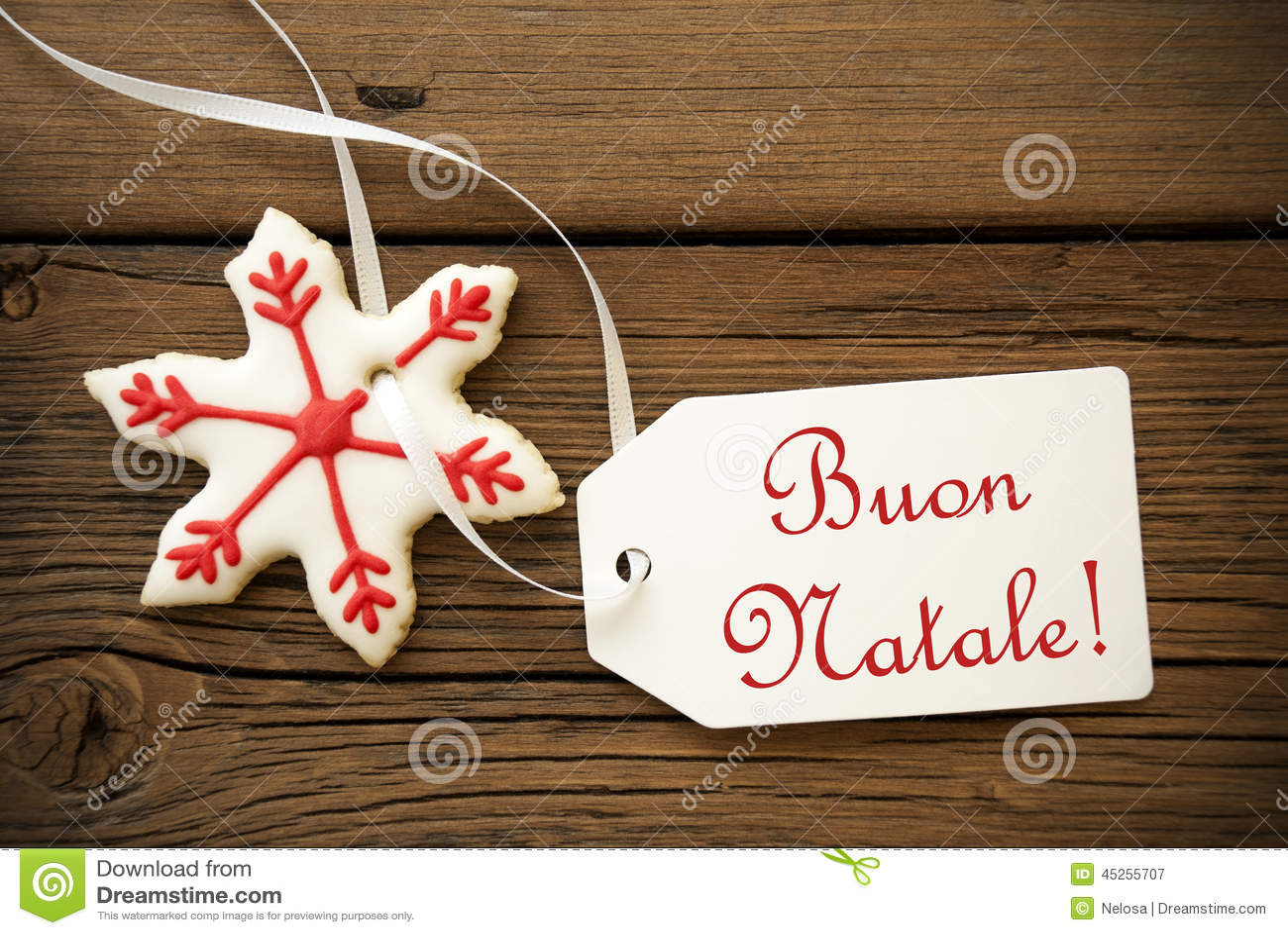 Buon Natale Italian Christmas Greetings Stock Image Image Of Food
