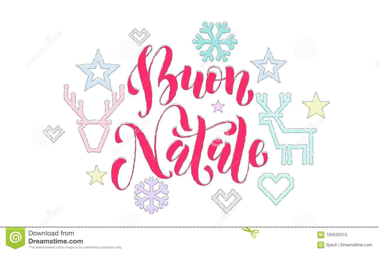 Buon Natale Italian Merry Christmas Embroidery Font And Decoration ...
