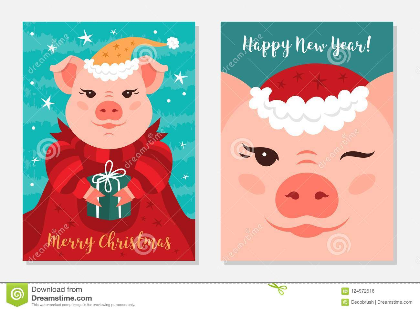 Immagini Divertenti Natale 2019.Buon Natale Maiali Di Natale Delle Cartoline D Auguri