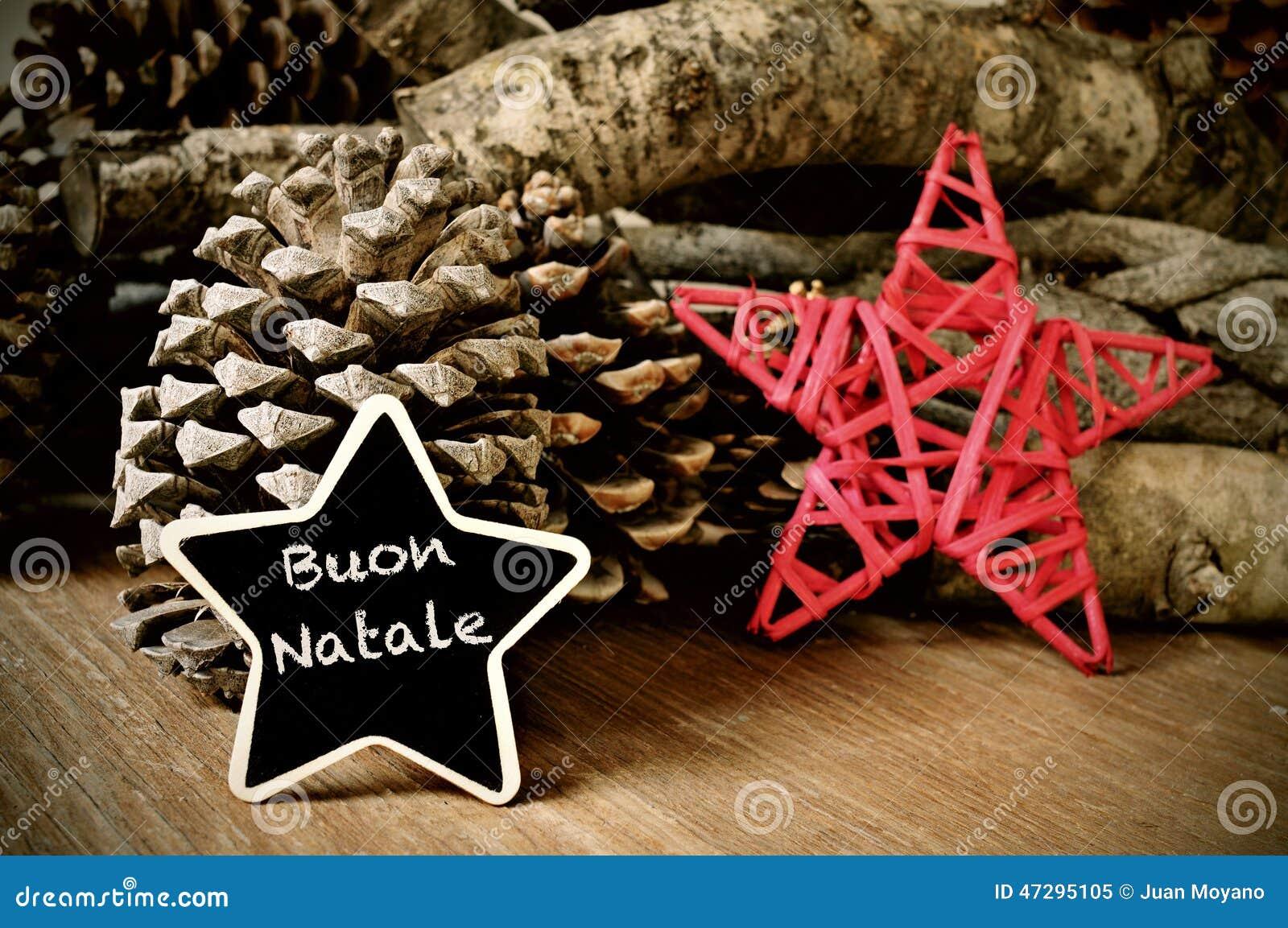 Buon Natale 105.Buon Natale Merry Christmas In Italian Stock Image Image Of
