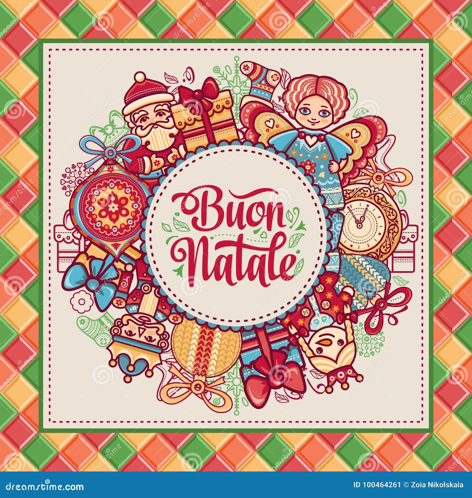 Buon Natale 2007 pozdrowienia karty szczęśliwych nowego roku Bożenarodzeniowy szablon Zima wakacje w Włochy Gratulacje na włoszcz
