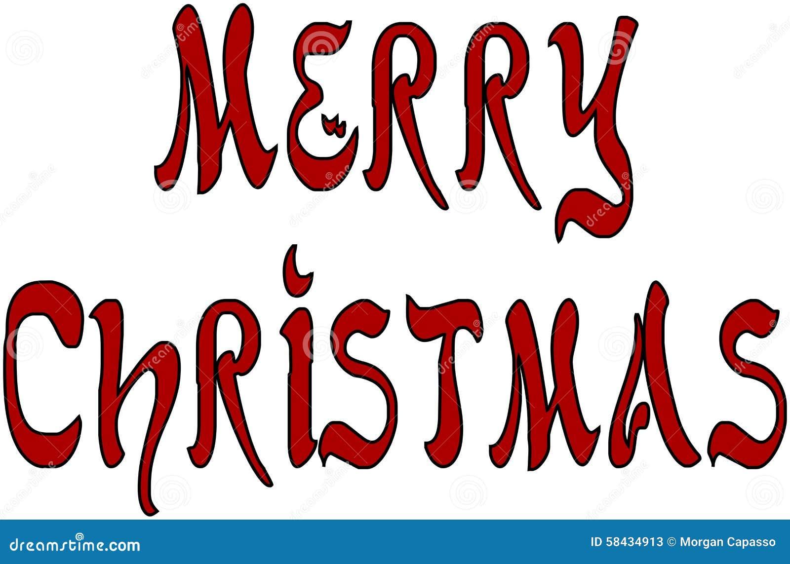 Buon Natale In Inglese.Buon Natale Scritto In Inglese Illustrazione Vettoriale