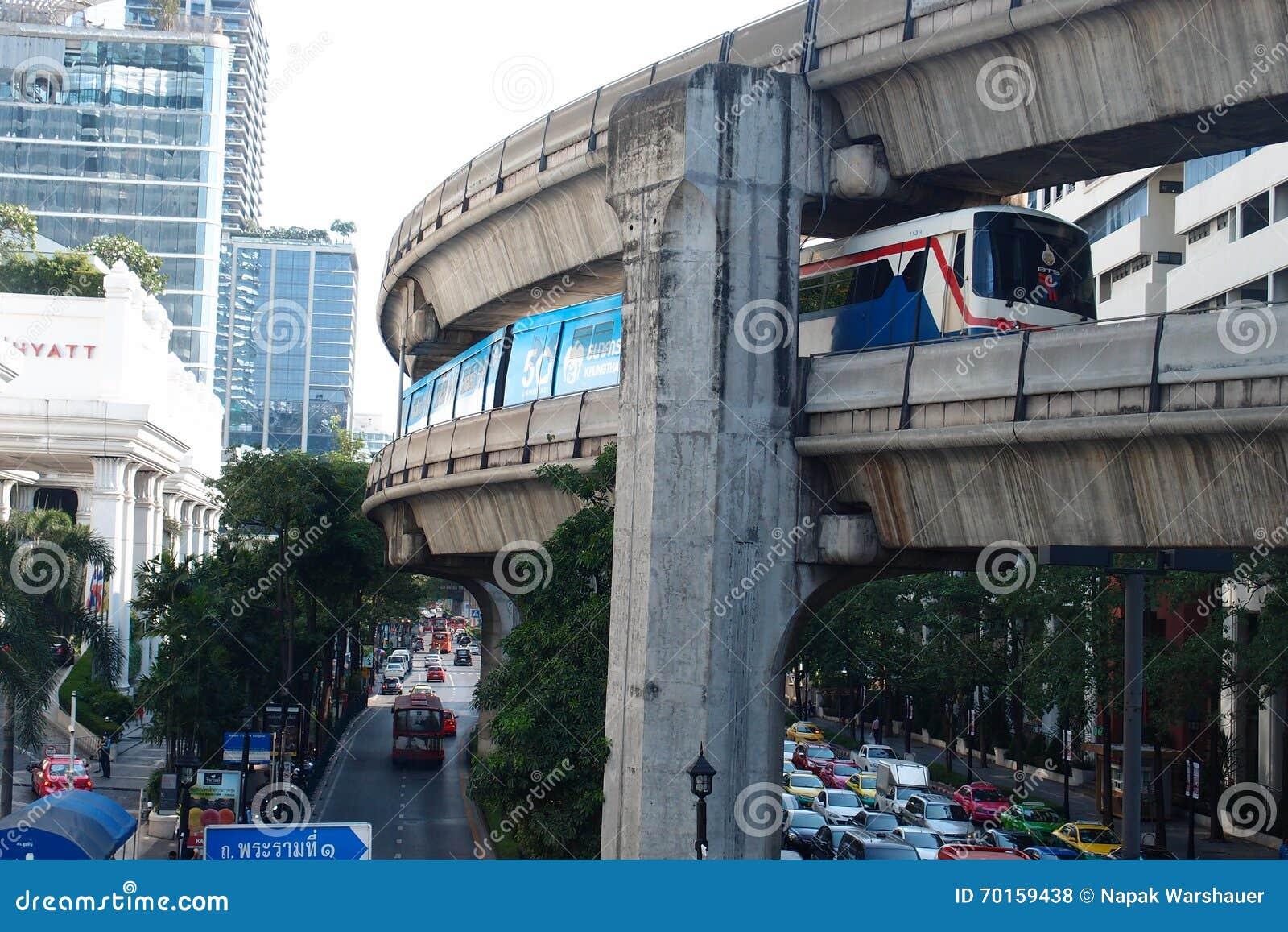 Buon Viaggio A Bangkok In Treno Di Alianti Fotografia Stock