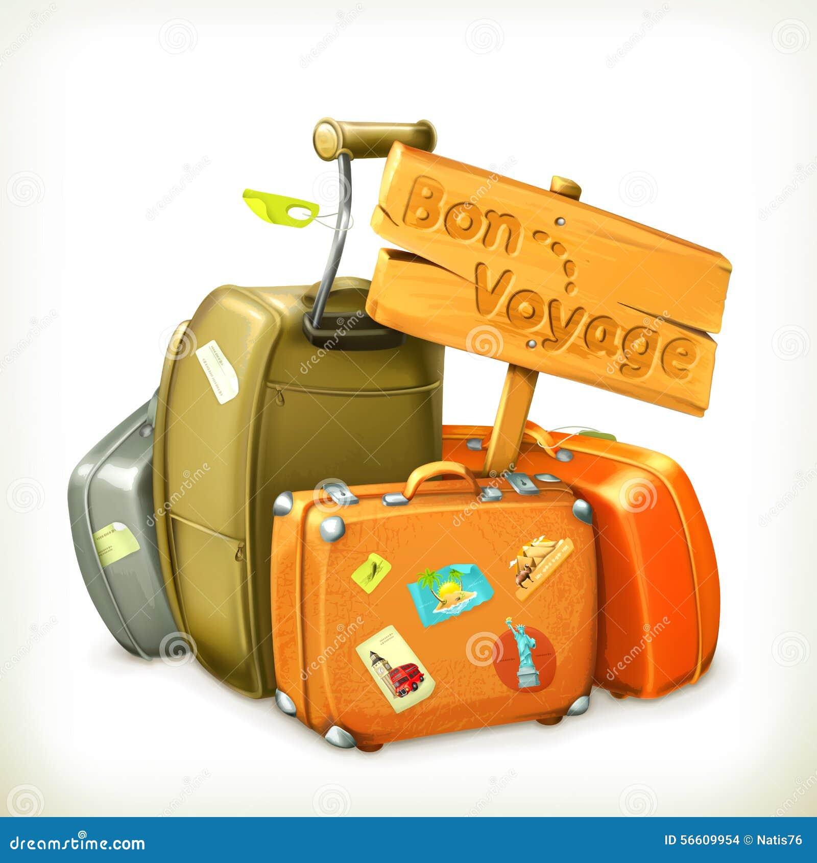 Exceptionnel Buon Viaggio Borse Di Viaggio E Del Segno Illustrazione Vettoriale  WE75
